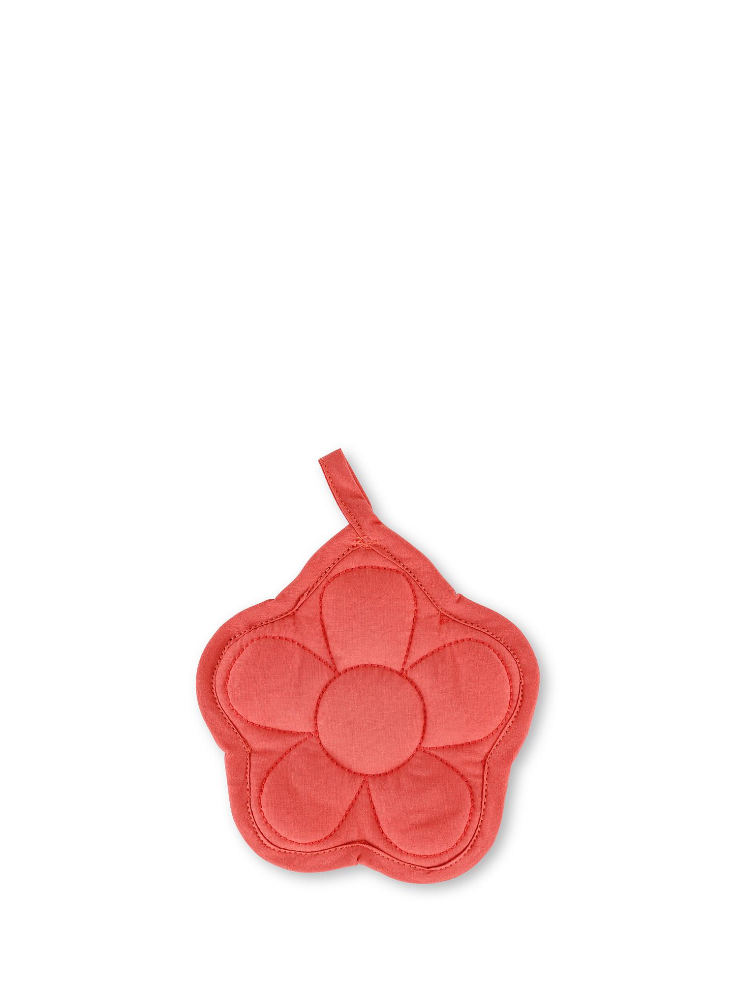 Presina puro cotone a fiore, Rosa, large image number 0