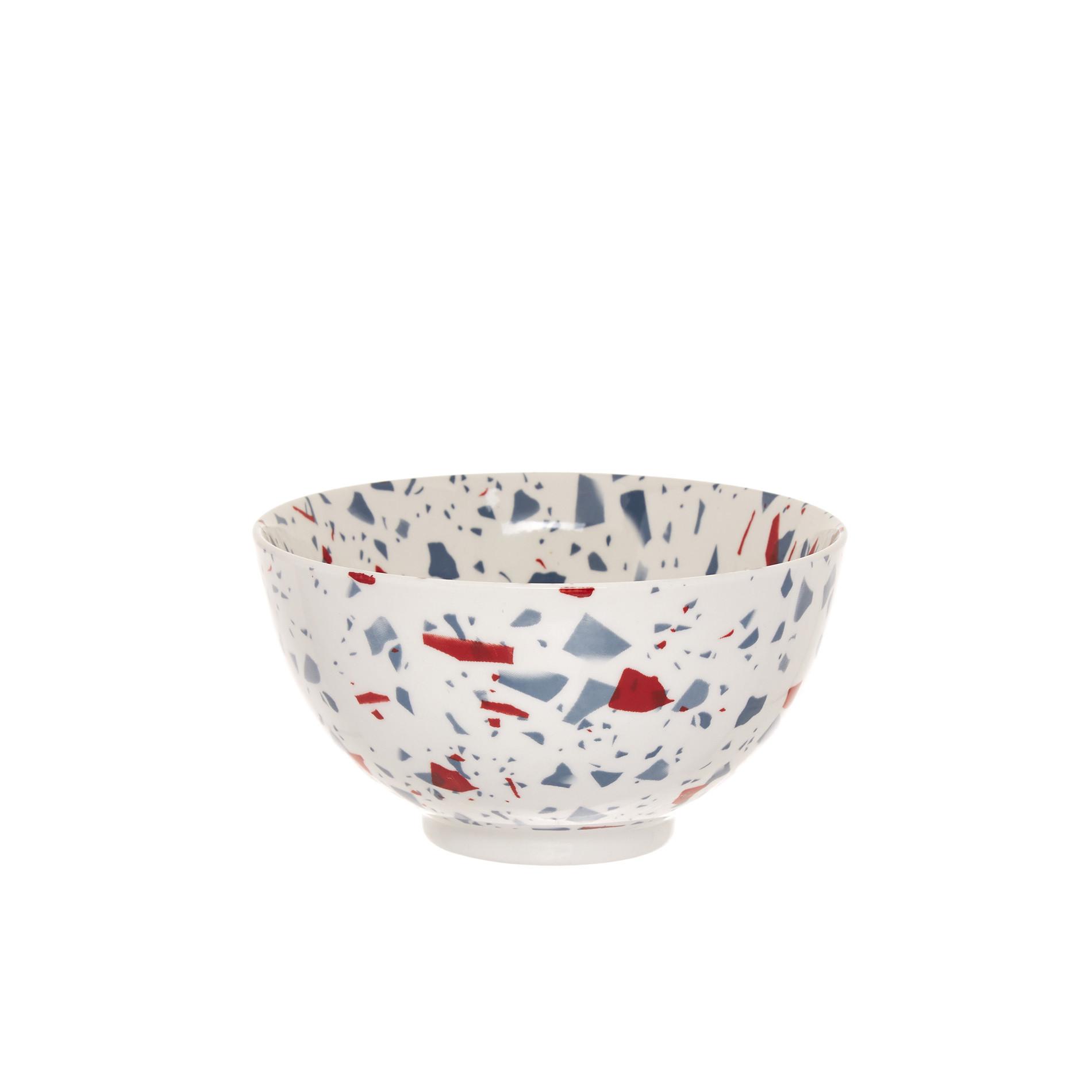 Coppetta stoneware effetto marmo, Bianco, large image number 0