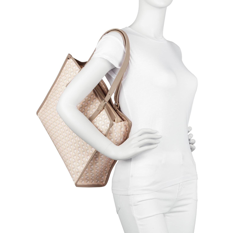Shopper taglia media Ikon, Beige, large image number 4