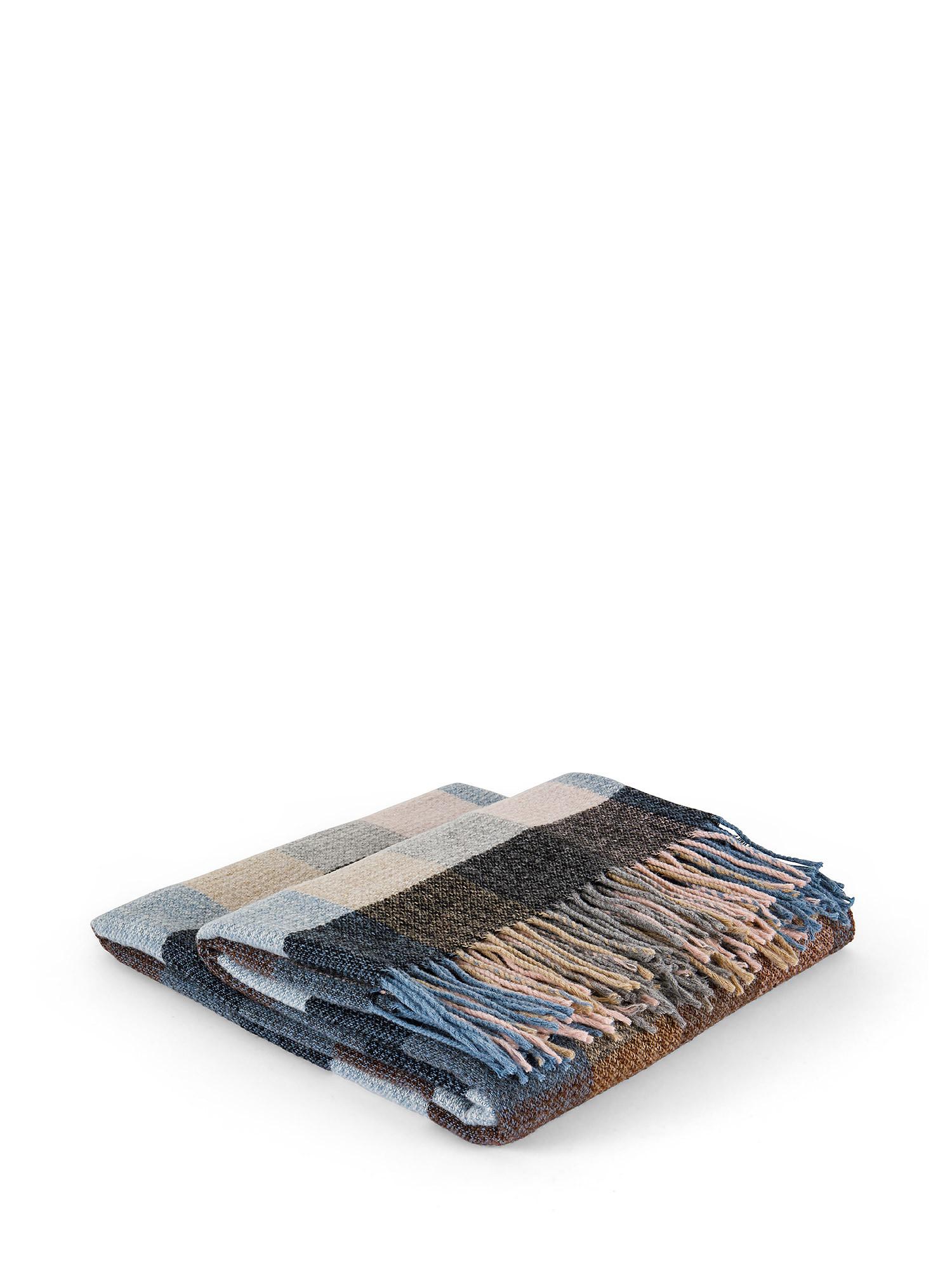 Plaid cotone ecologico a quadri, Multicolor, large image number 0