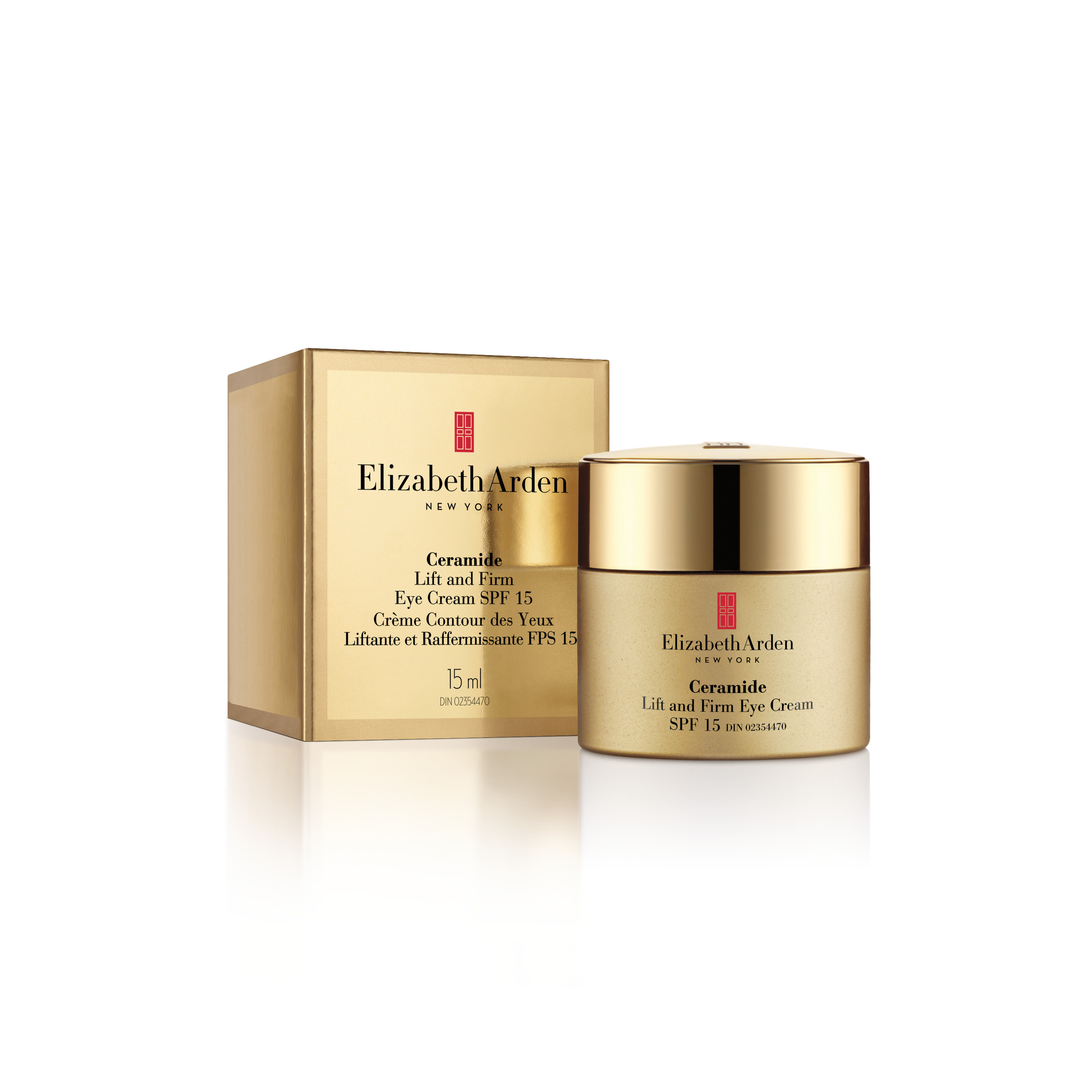 Ceramide lift and firm eye cream sunscreen spf 15 - 14,4 gr, Giallo oro, large image number 1