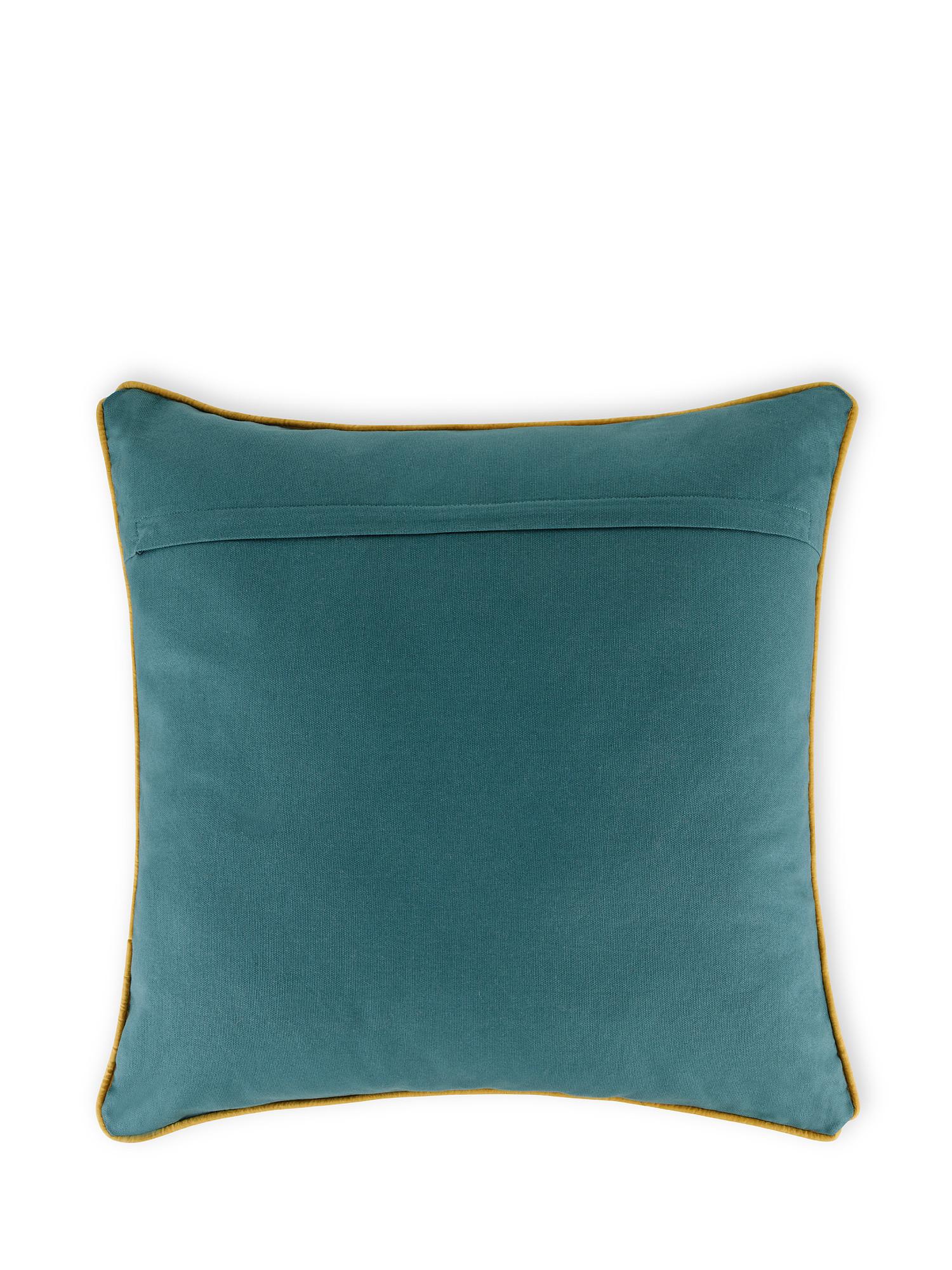 Cuscino cotone ricamo vaso 45x45cm, Multicolor, large image number 1