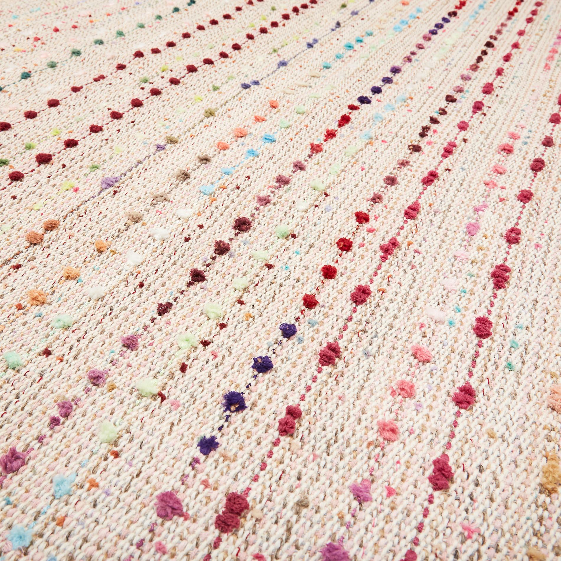 Tappeto fili multicolore effetto catenella, Multicolor, large image number 1