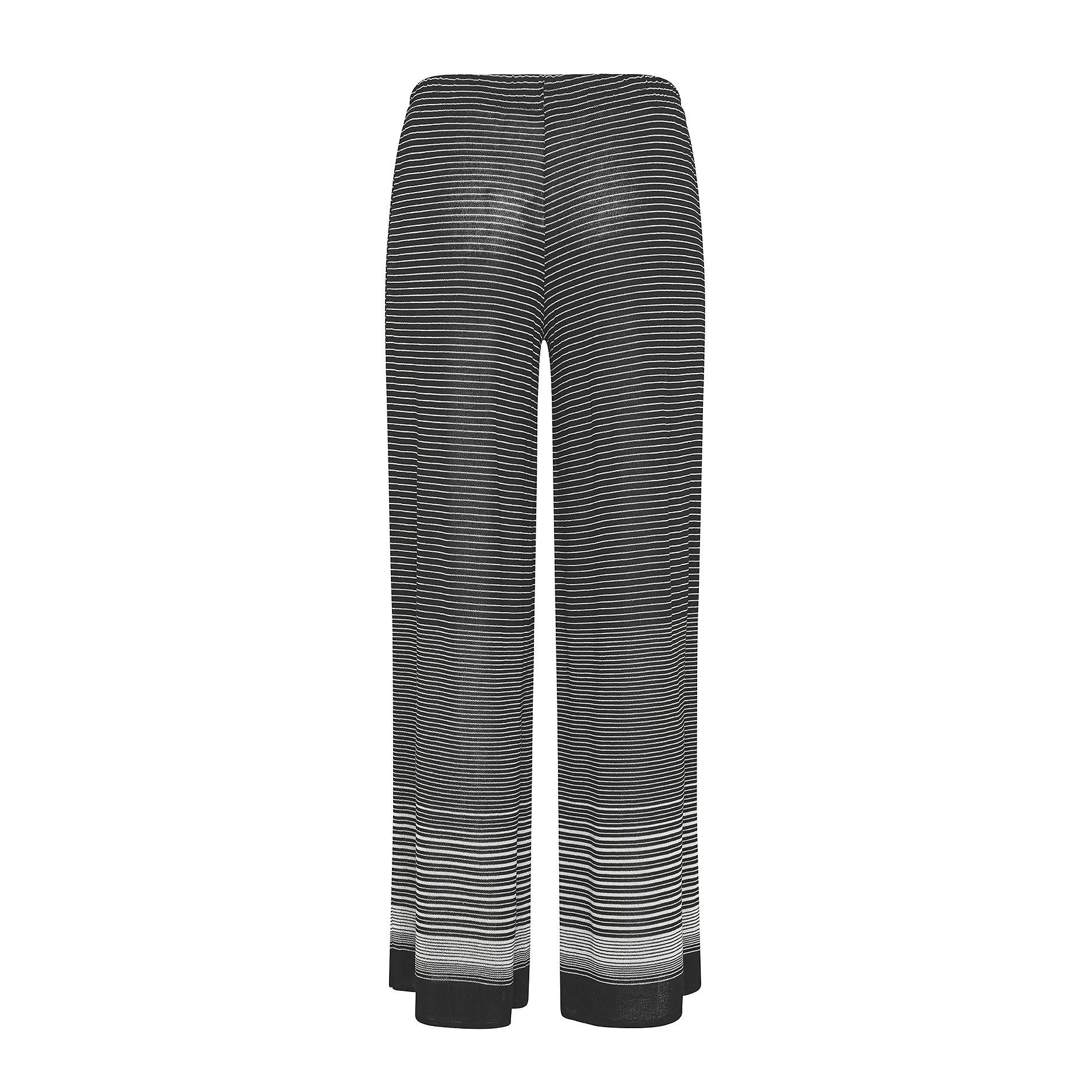Pantalone ampio leggero a righe Koan, Nero, large image number 1