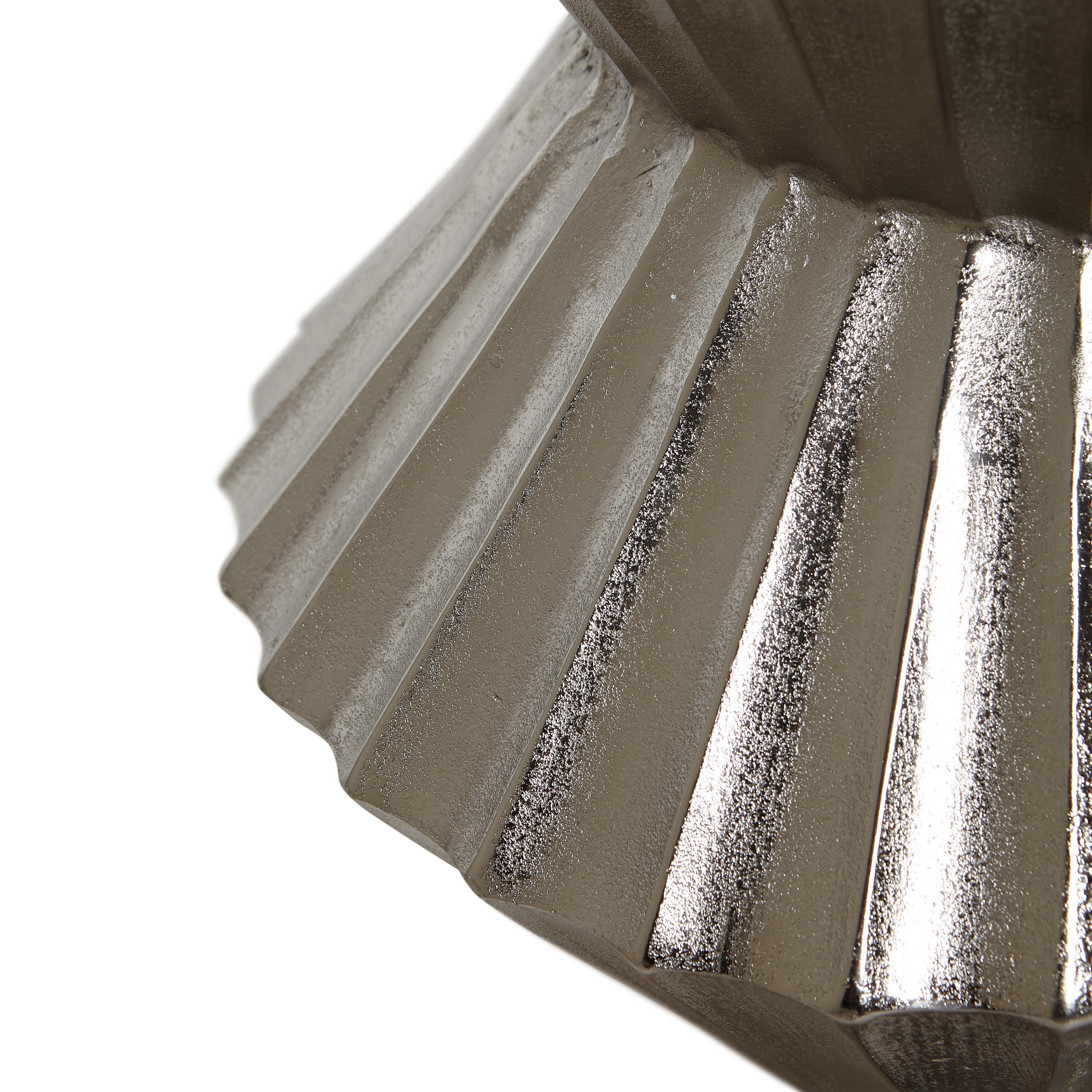Tavolino in alluminio Drum, Grigio argento, large image number 1