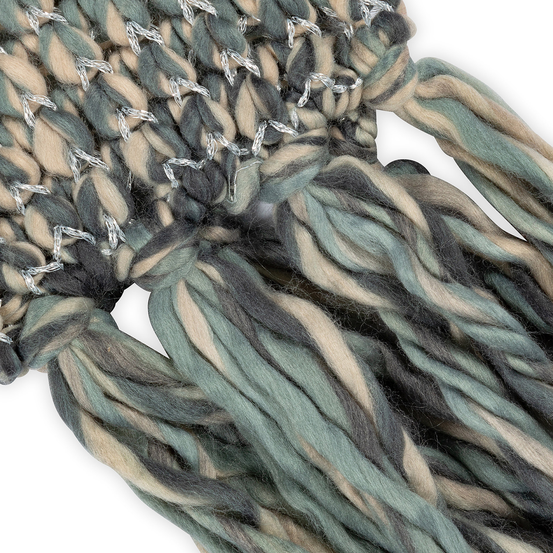 Sciarpa tessuto intrecciato Koan, Beige, large image number 1