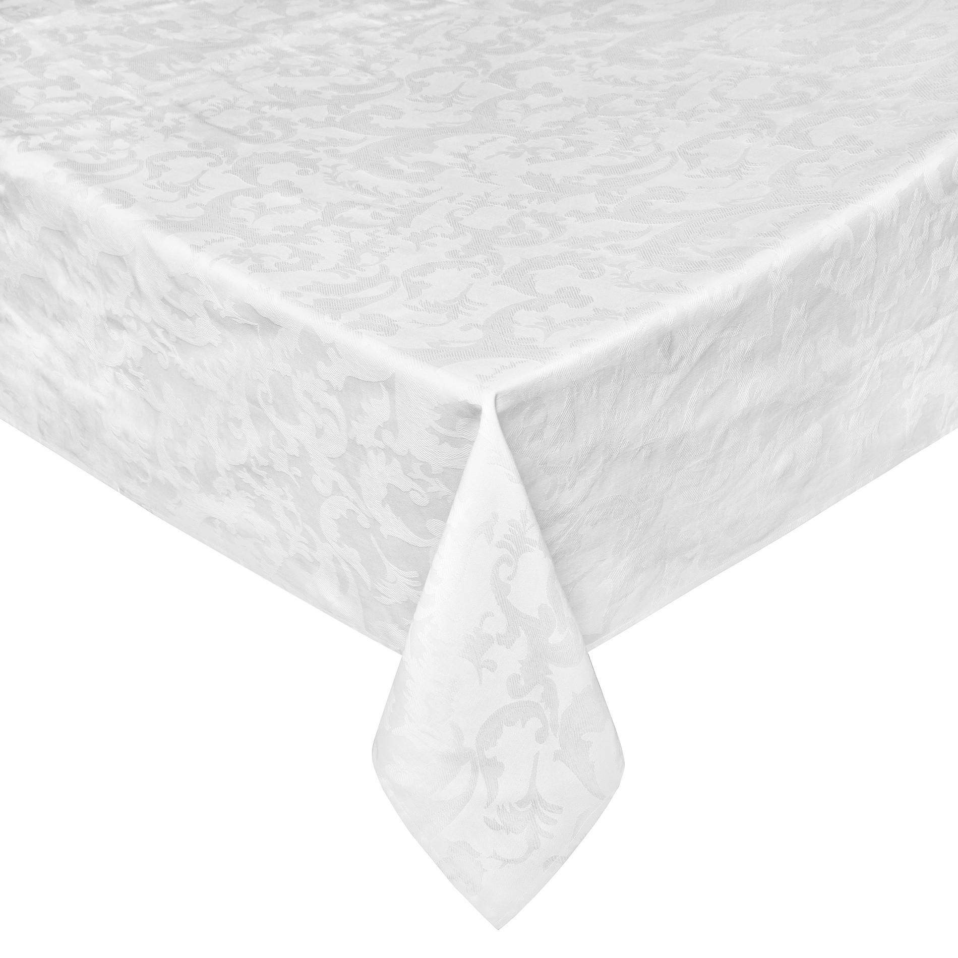Tovaglia in jacquard di cotone egiziano, Bianco, large image number 0