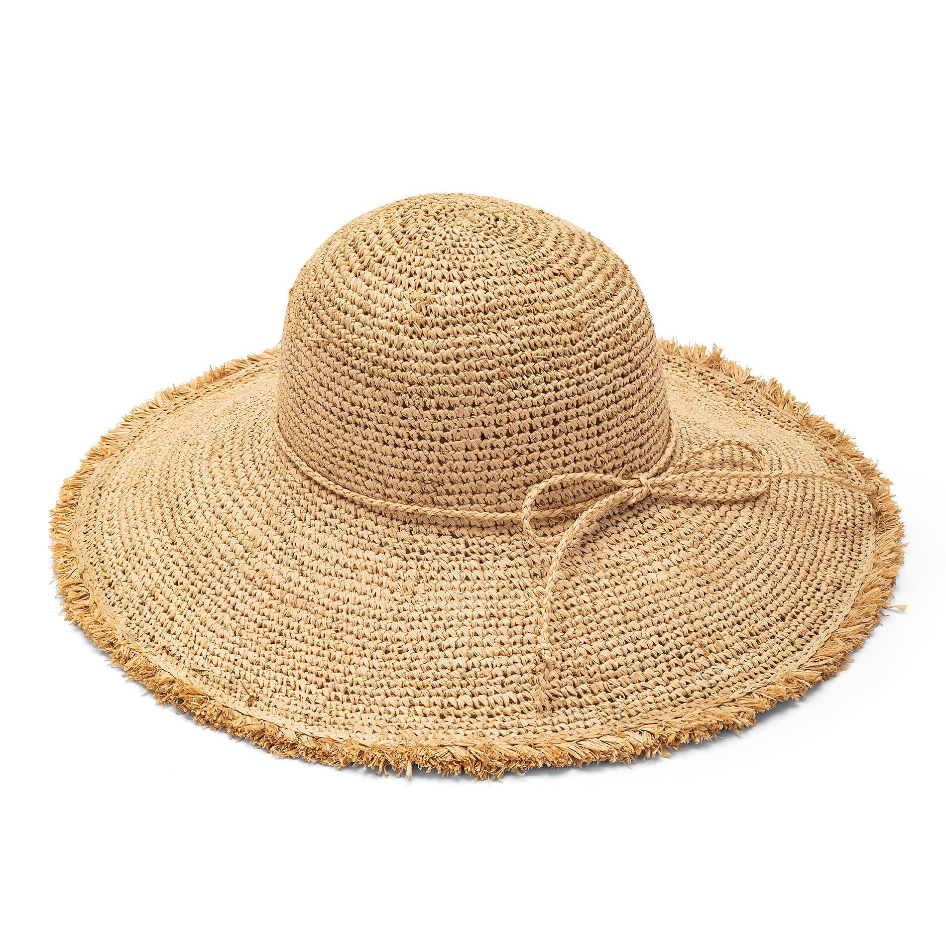 Cappello tesa larga in paglia, Beige, large image number 0