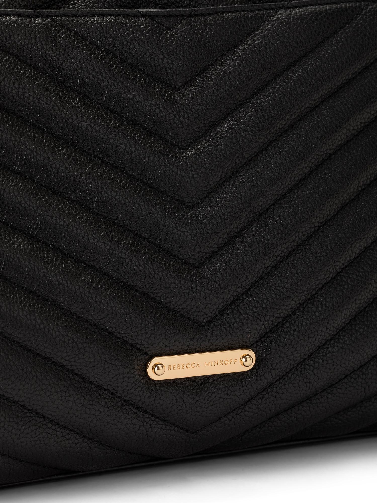 Edie Flap Shoulder Bag, Nero, large image number 2