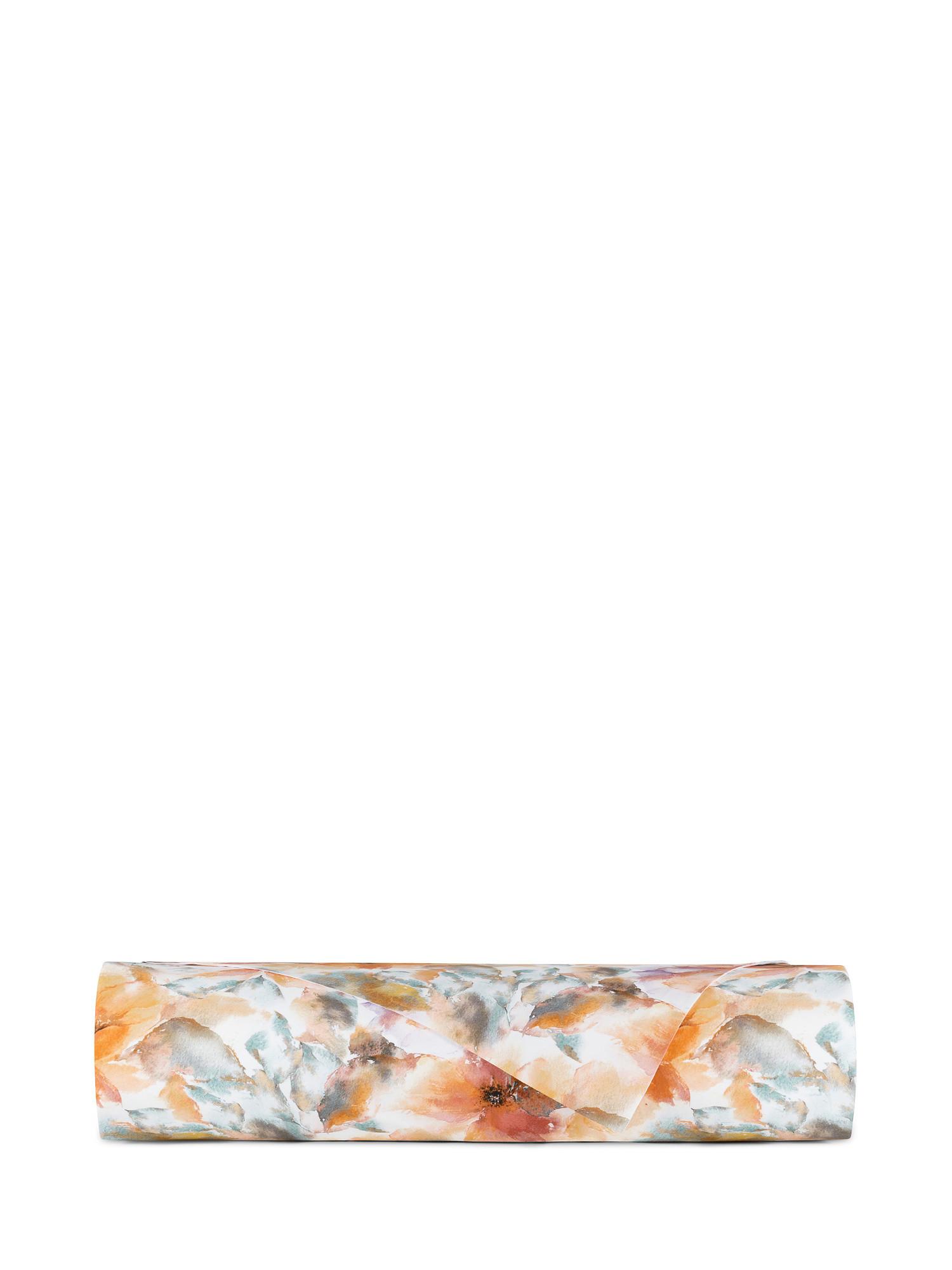 Lenzuolo liscio cotone percalle fantasia autunnale, Multicolor, large image number 1