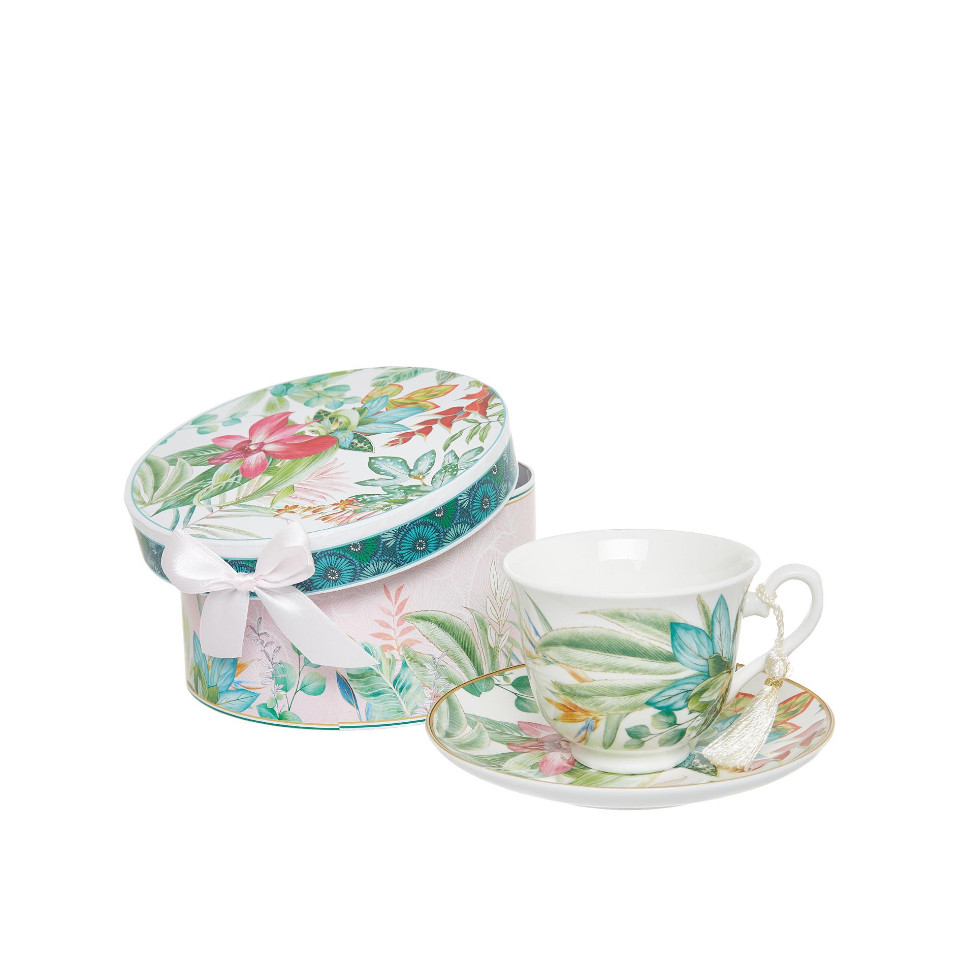 Tazza tè new bone china decoro amazzonia, Multicolor, large image number 0