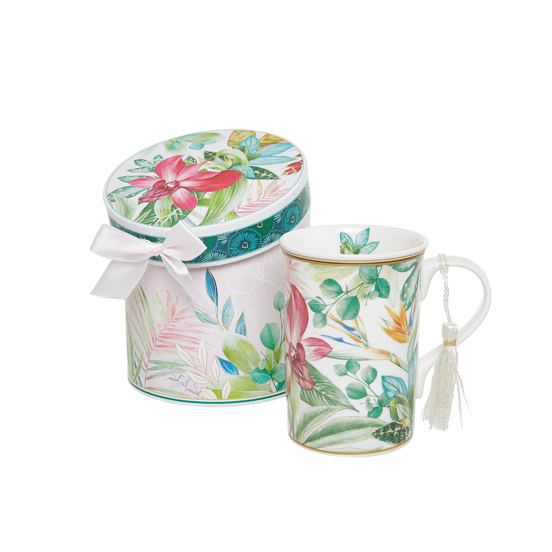 Mug new bone china decoro amazzonia, Multicolor, large image number 0