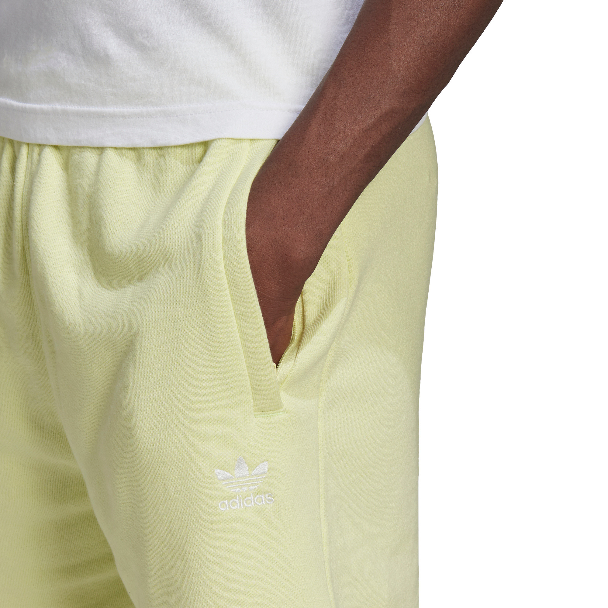 Short loungewear trefoil essentials, Giallo, large image number 4