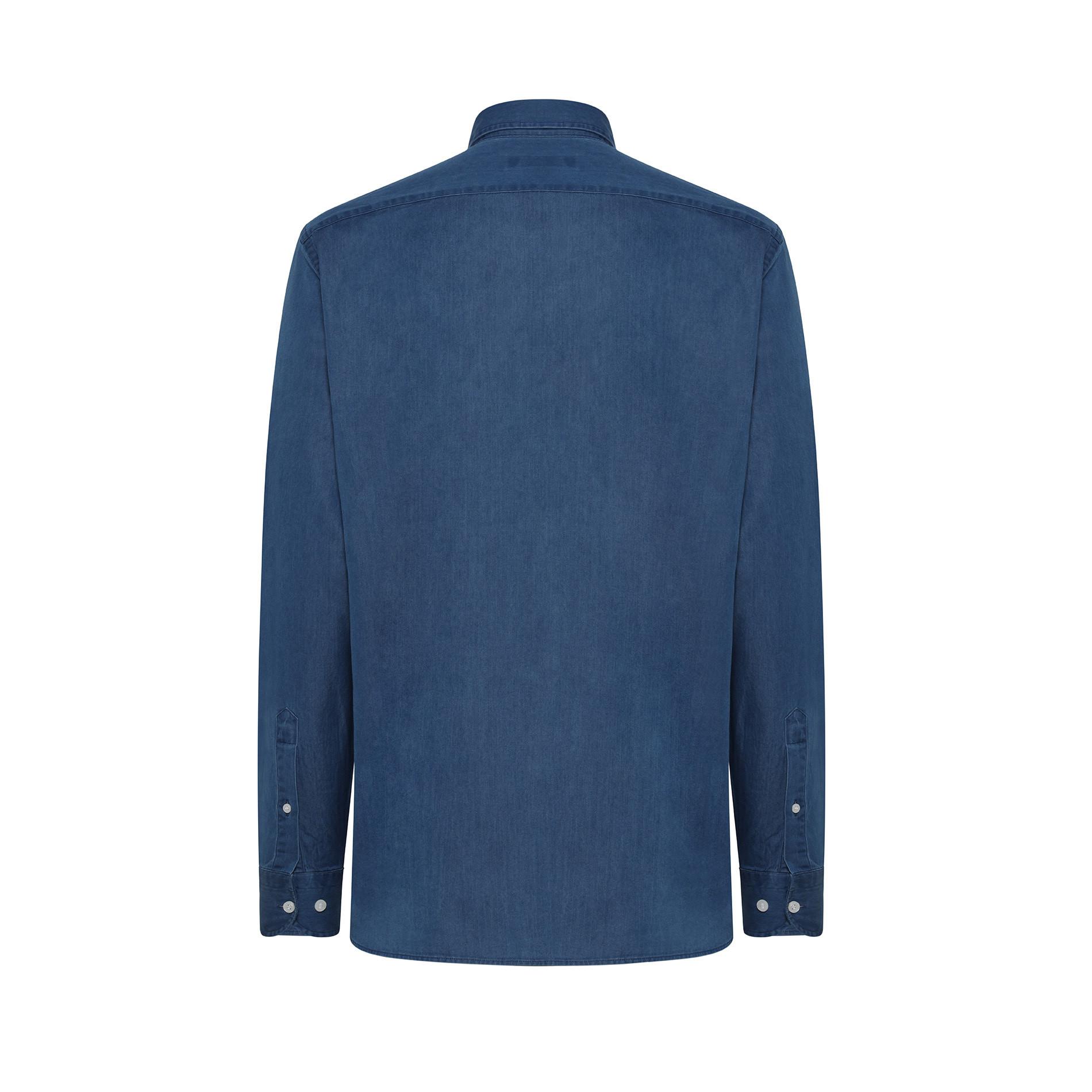 Camicia denim tailor fit Luca D'Altieri, Denim, large image number 1