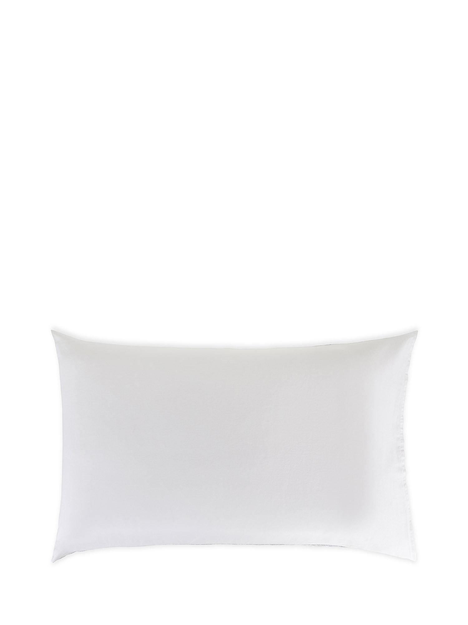 Federa raso di cotone fantasia Ginkgo, Bianco, large image number 1