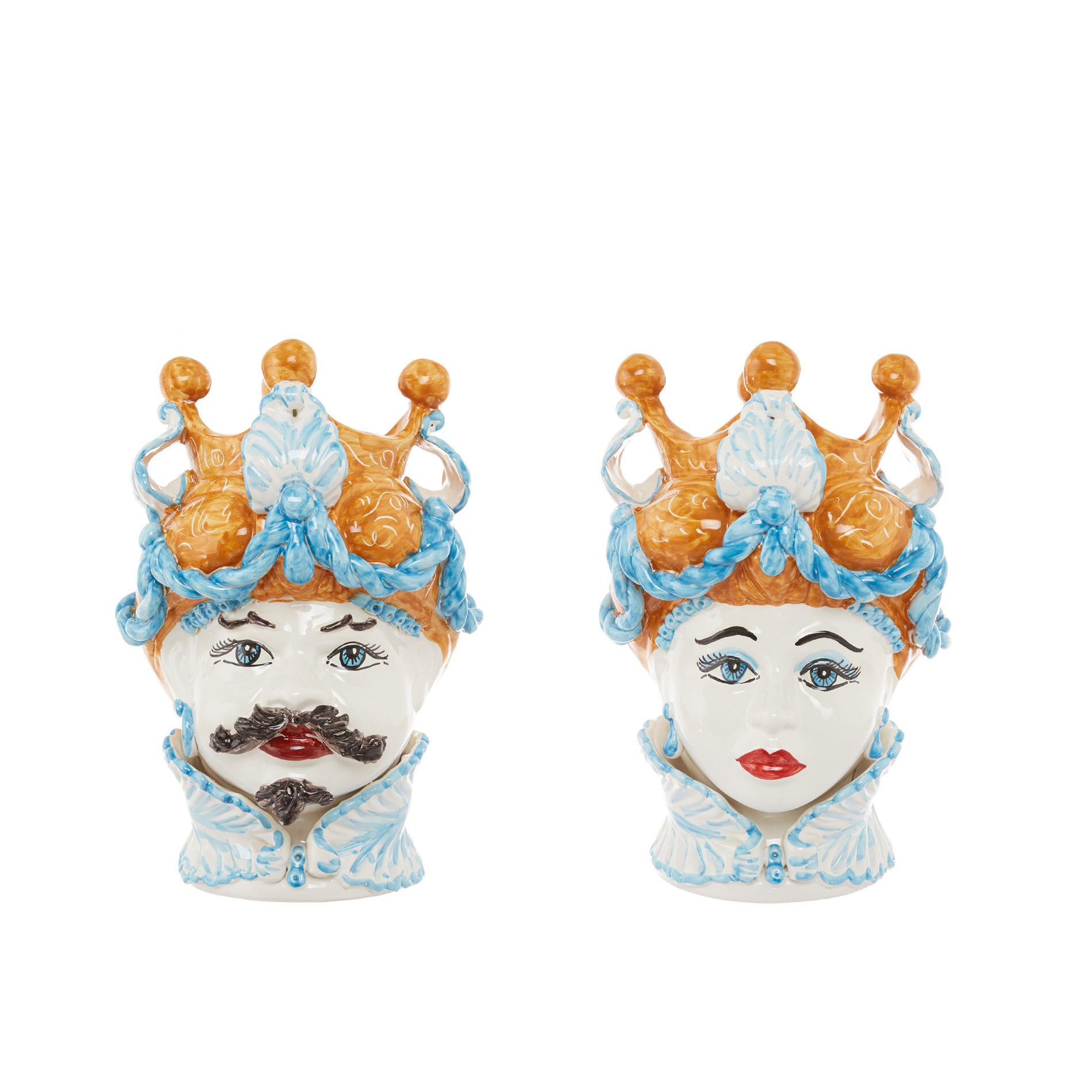 Testa di moro arabesque by Ceramiche Siciliane Ruggeri, Multicolor, large image number 5