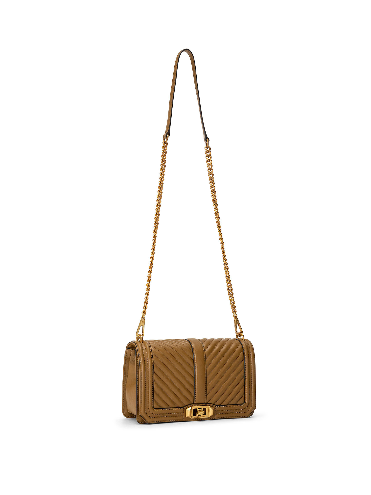 Chevron Quilted Love Crossbody, Verde scuro, large image number 1