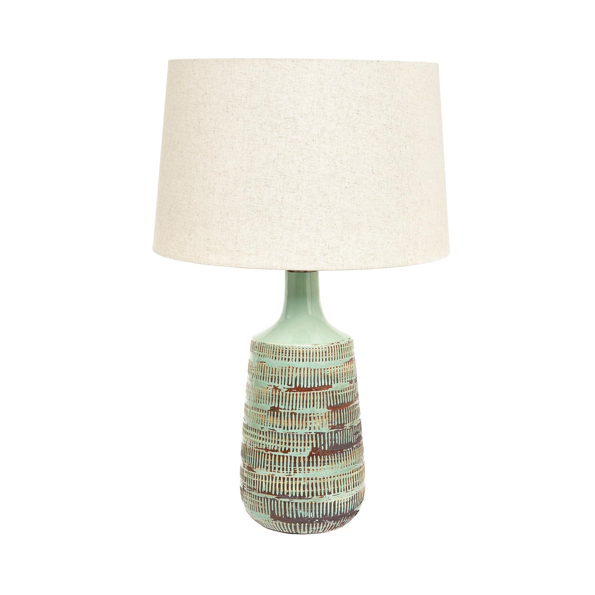 Lampada da tavolo ceramica Green, Verde, large image number 0