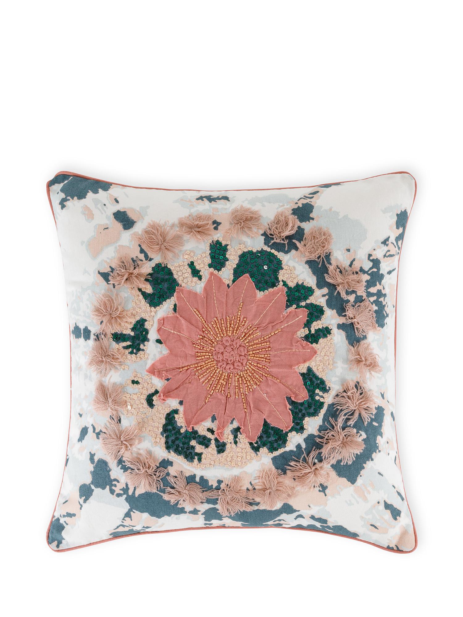 Cuscino cotone effetto tie dye 45x45cm, Multicolor, large image number 0