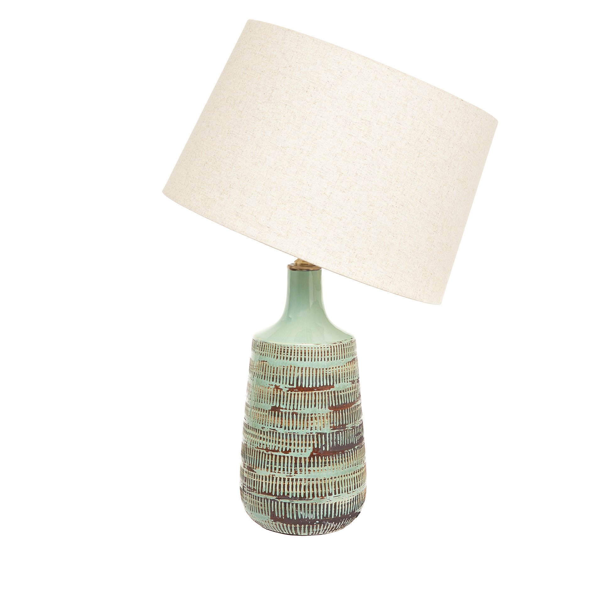 Lampada da tavolo ceramica Green, Verde, large image number 1