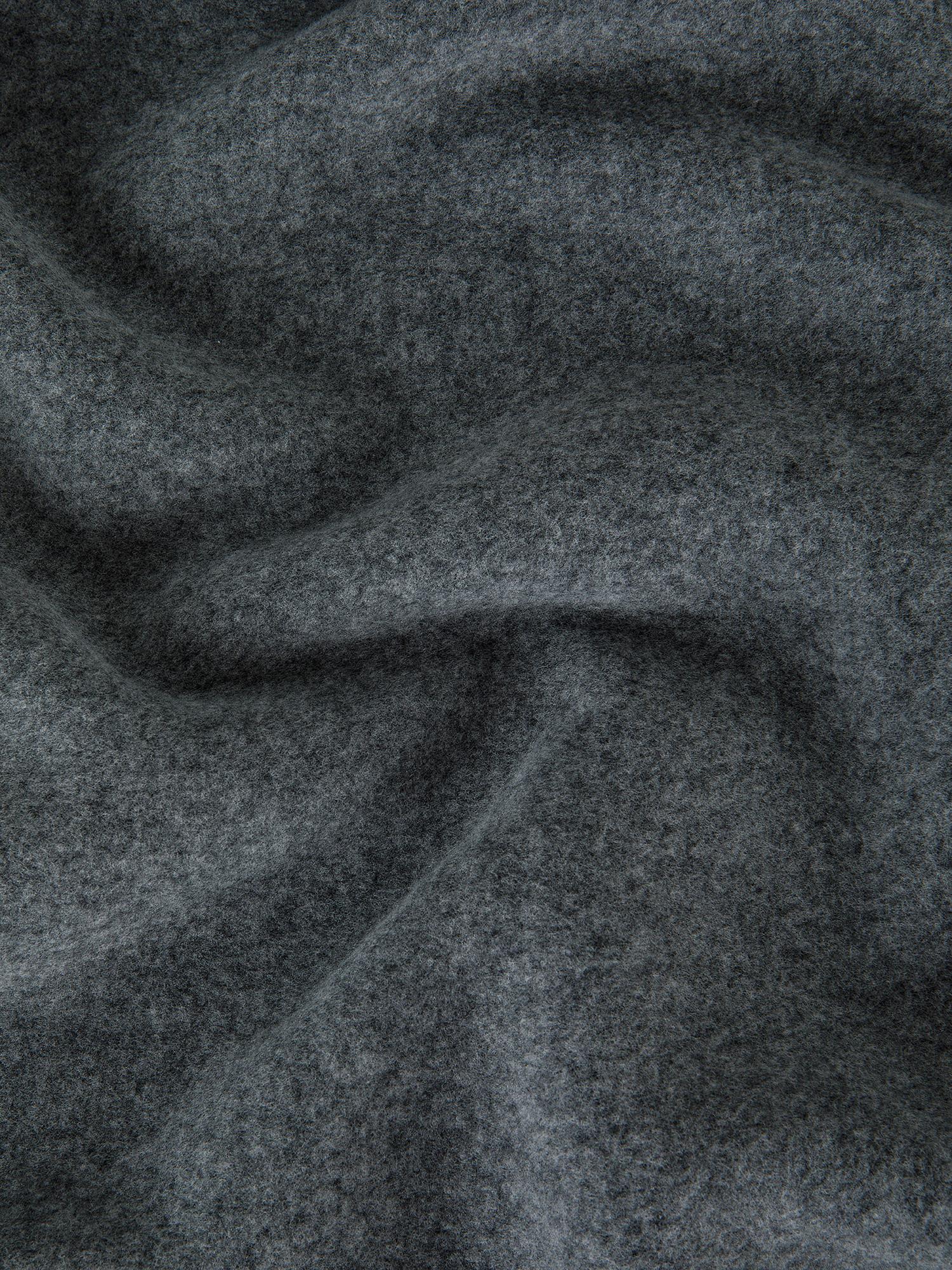 Plaid morbido pile tinta unita, Grigio, large image number 1