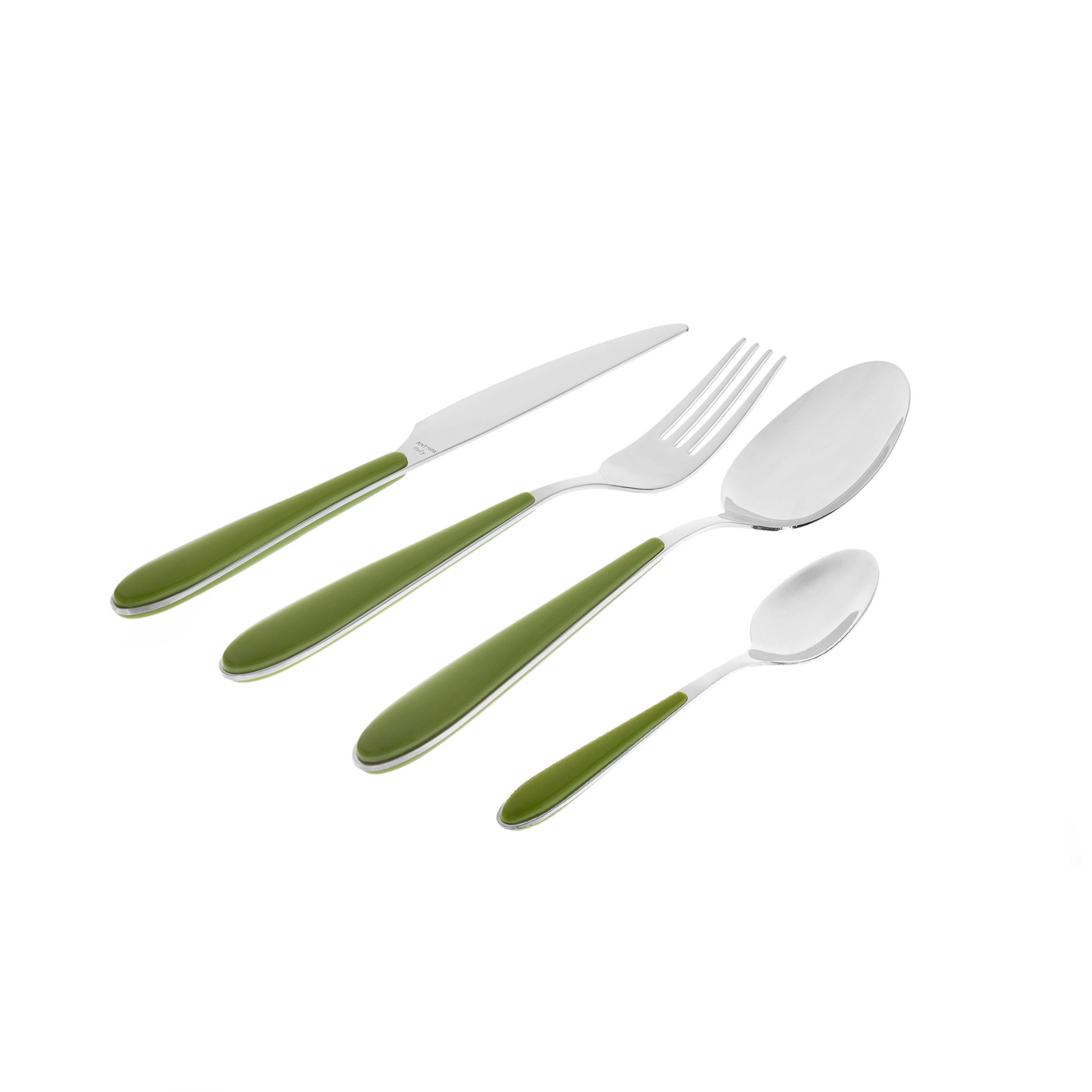 Coltello acciaio inox e plastica, Verde, large image number 1