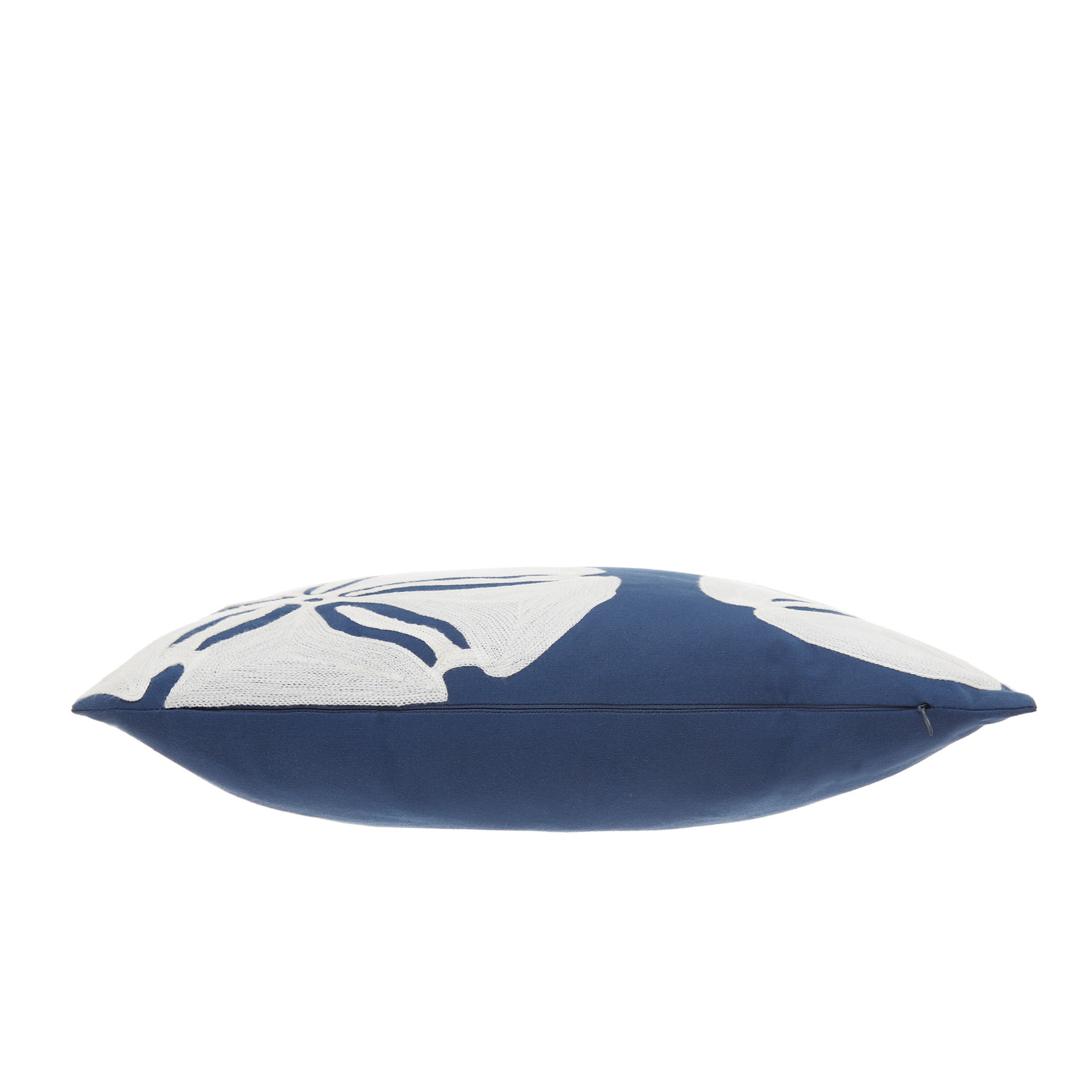 Cuscino ricamo conchiglie 45x45cm, Blu, large image number 3