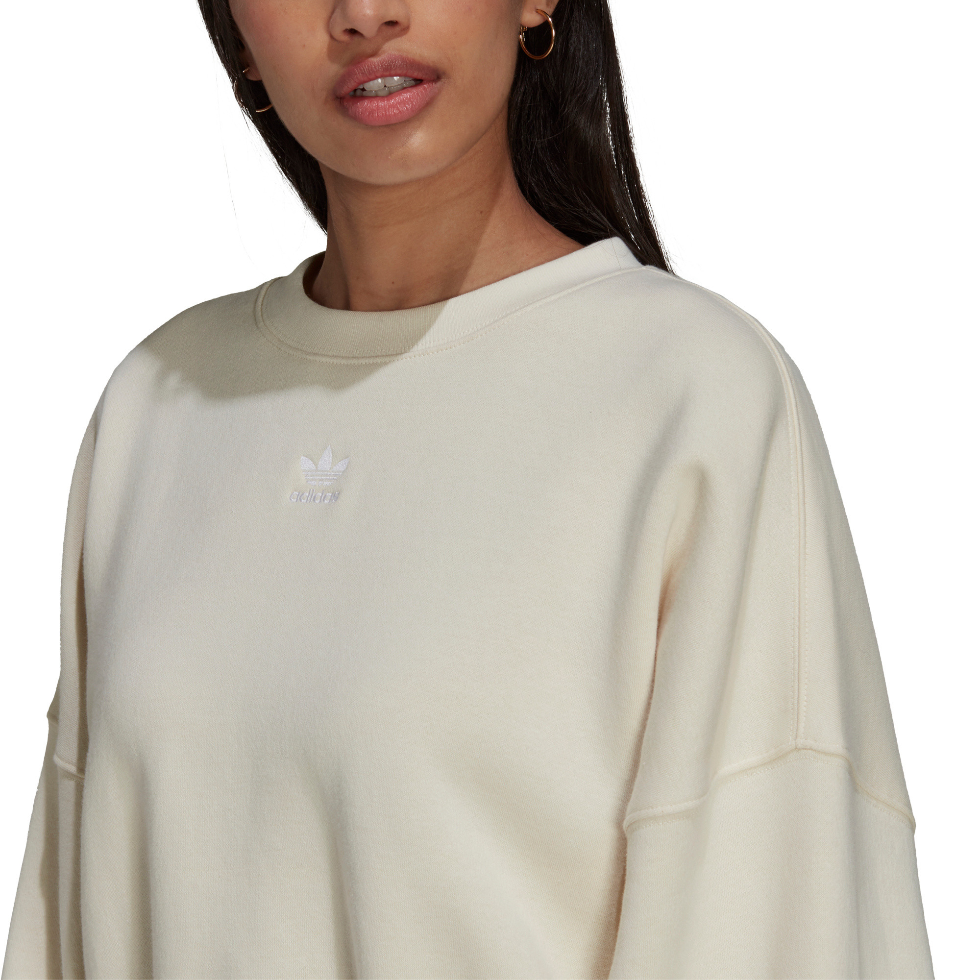 Felpa adicolor Essentials Fleece, Bianco, large image number 4