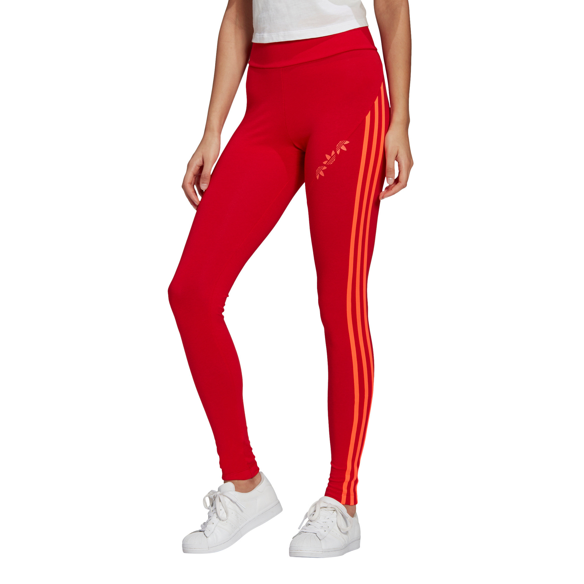 Tight adicolor Sliced Trefoil High-Waisted, Rosso, large image number 2