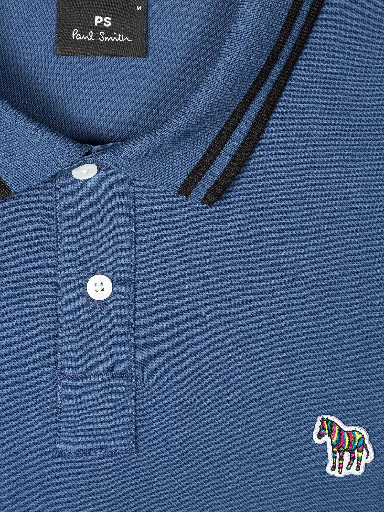 Polo Uomo Mc Vestibilita' Stretta, Blu, large image number 1