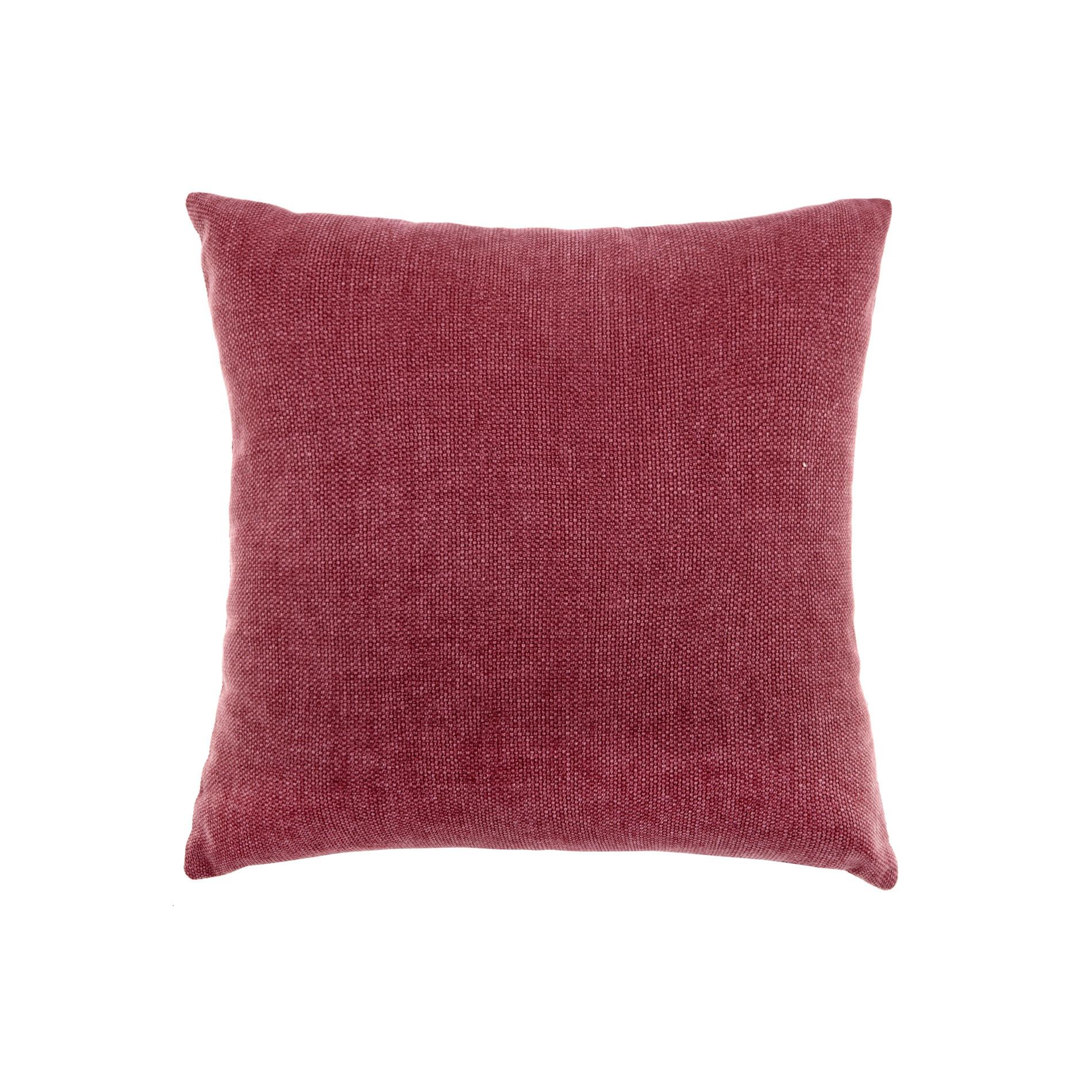 Cuscino tinta unita effetto sfumato, Rosso bordeaux, large image number 0