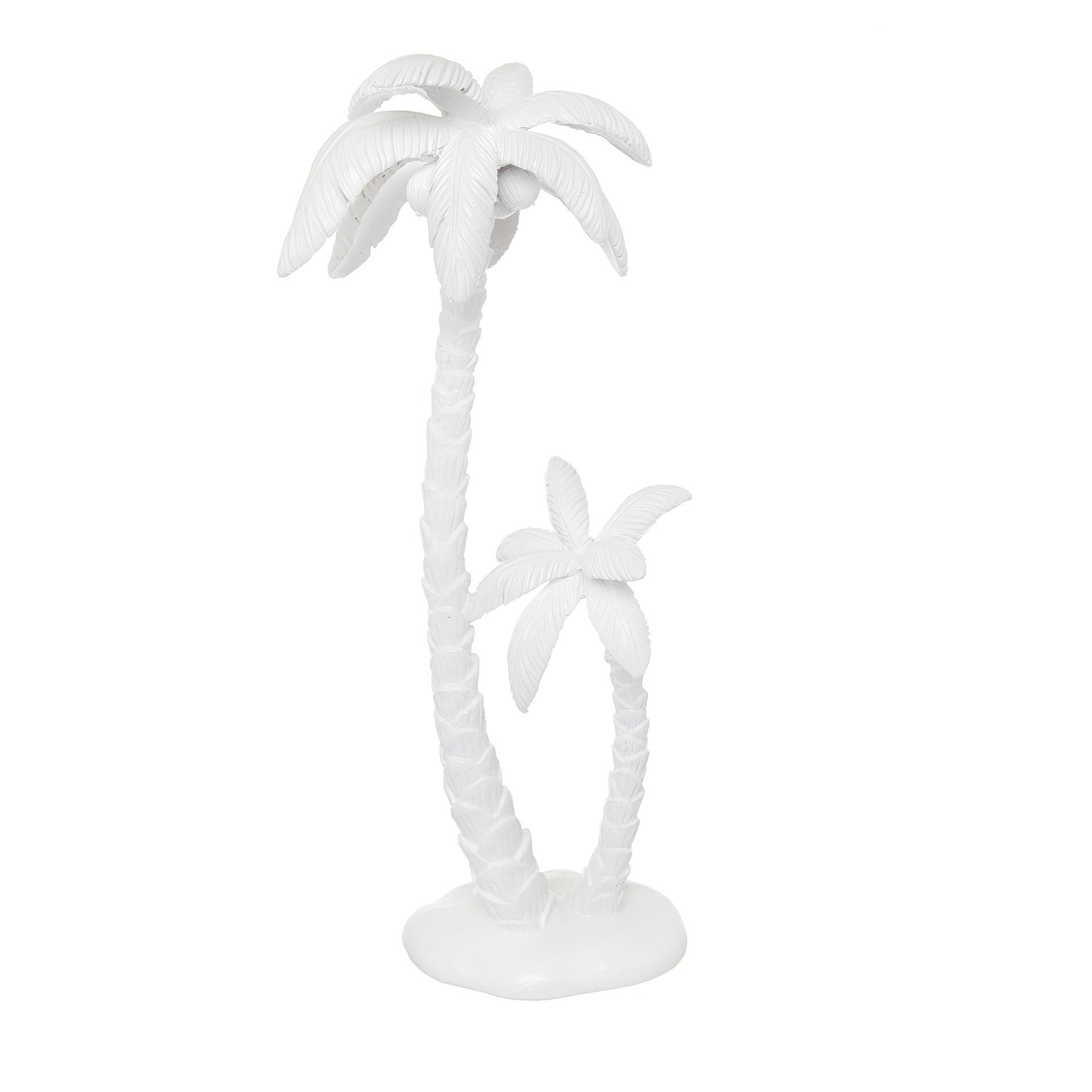 Palma decorativa rifinita a mano, Bianco, large image number 0