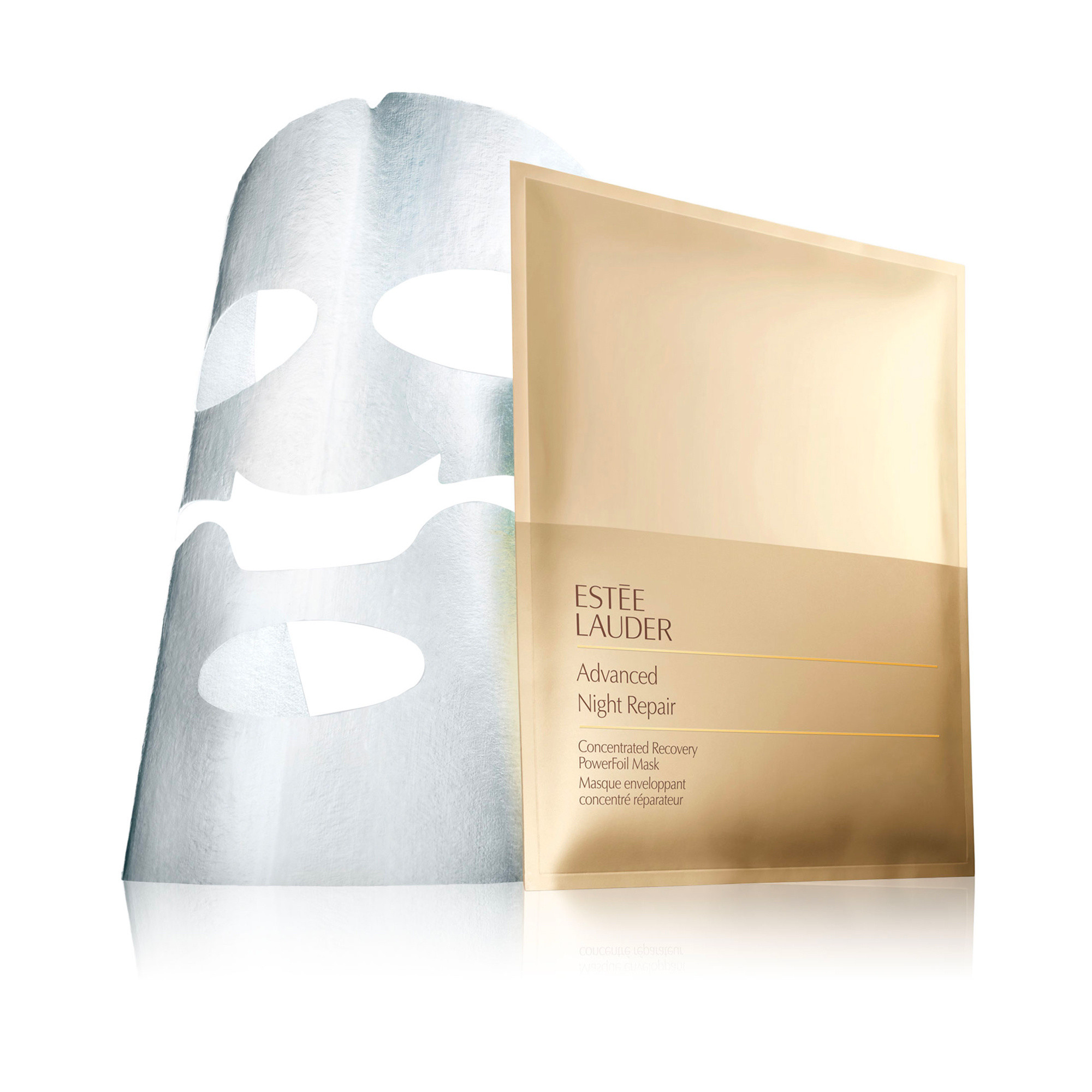 Estée Lauder advanced night repair concentrated recovery powerfoil mask x4  4 pcs, Azzurro, large image number 0