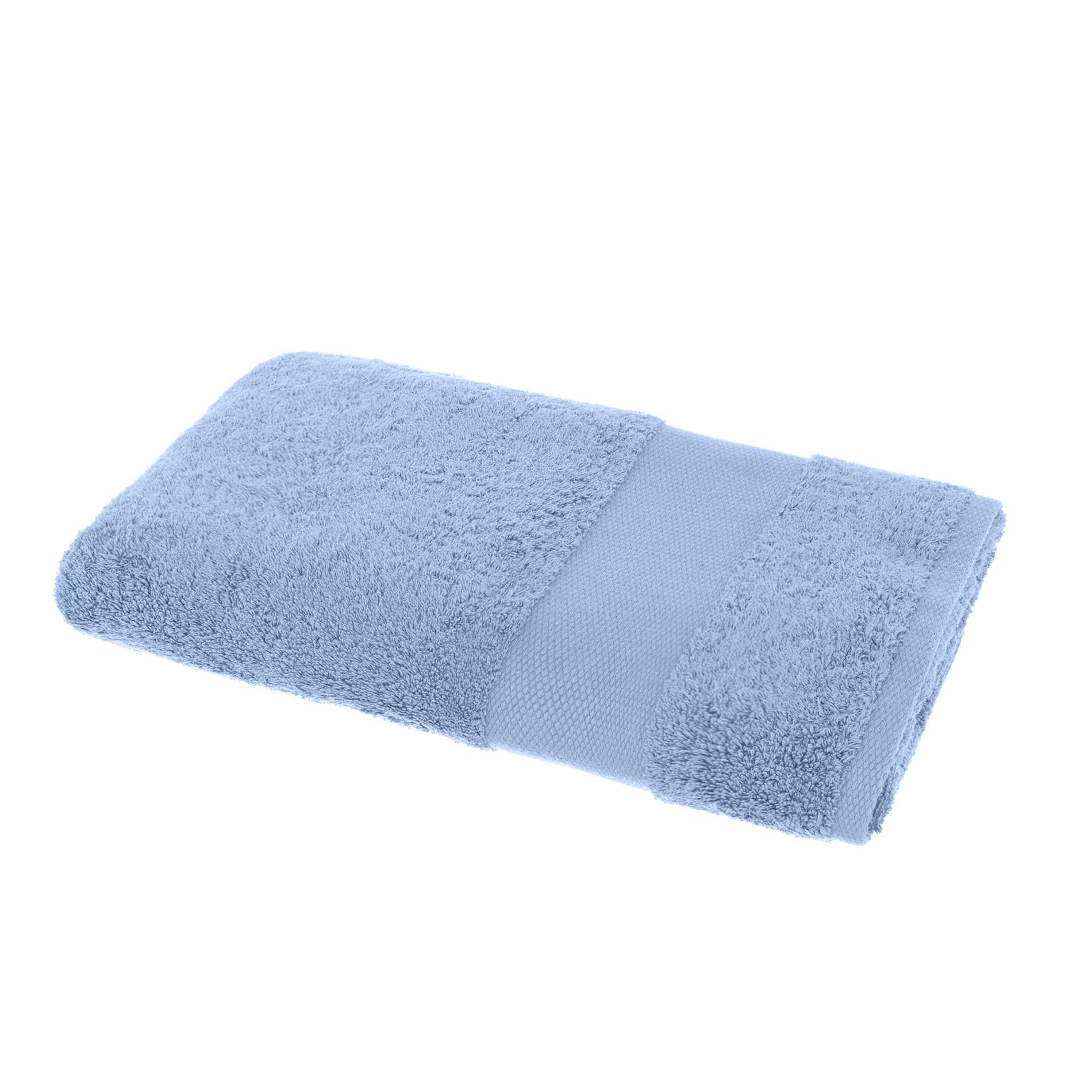 Asciugamano spugna di puro cotone Zefiro, Blu, large image number 1