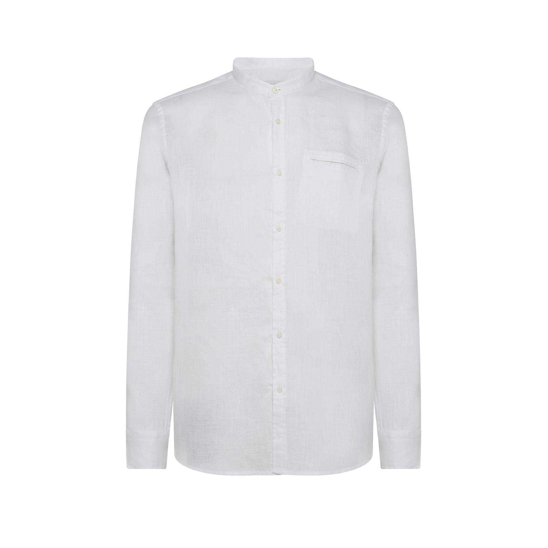 Camicia puro lino tailor fit Luca D'Altieri, Bianco, large image number 0