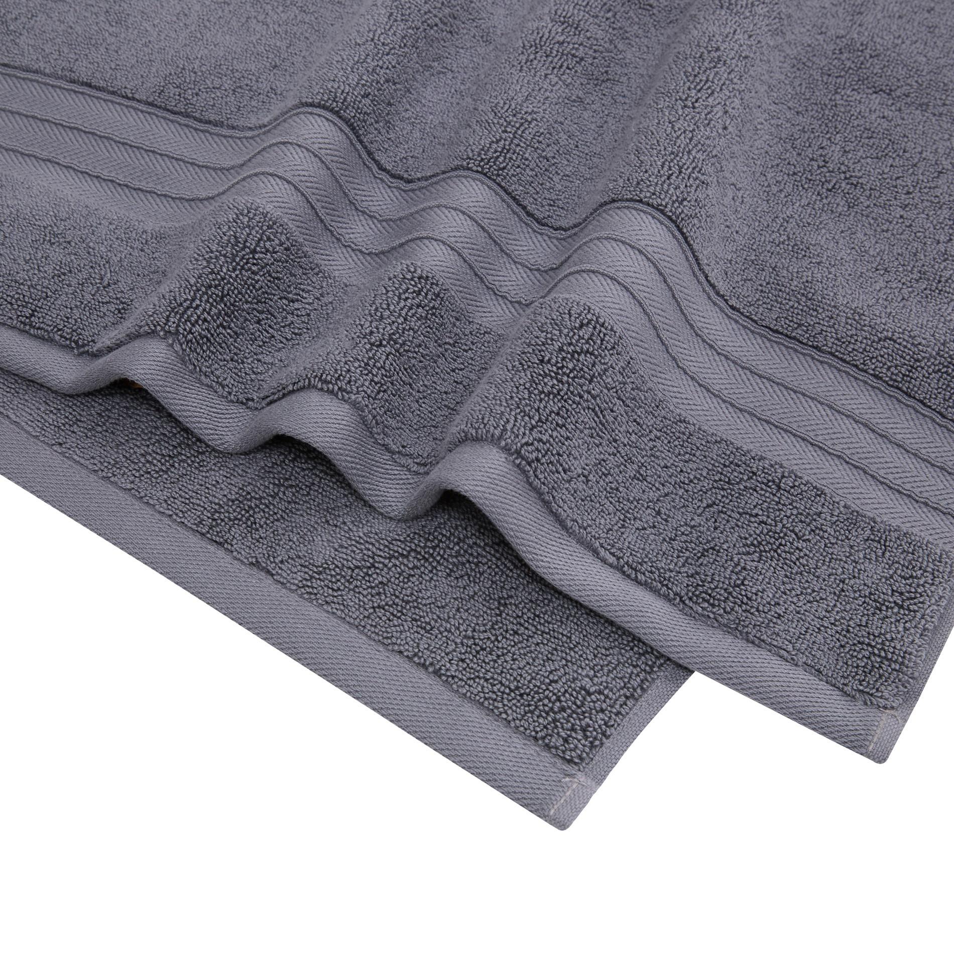 Asciugamano puro cotone tinta unita Thermae, Grigio scuro, large image number 3
