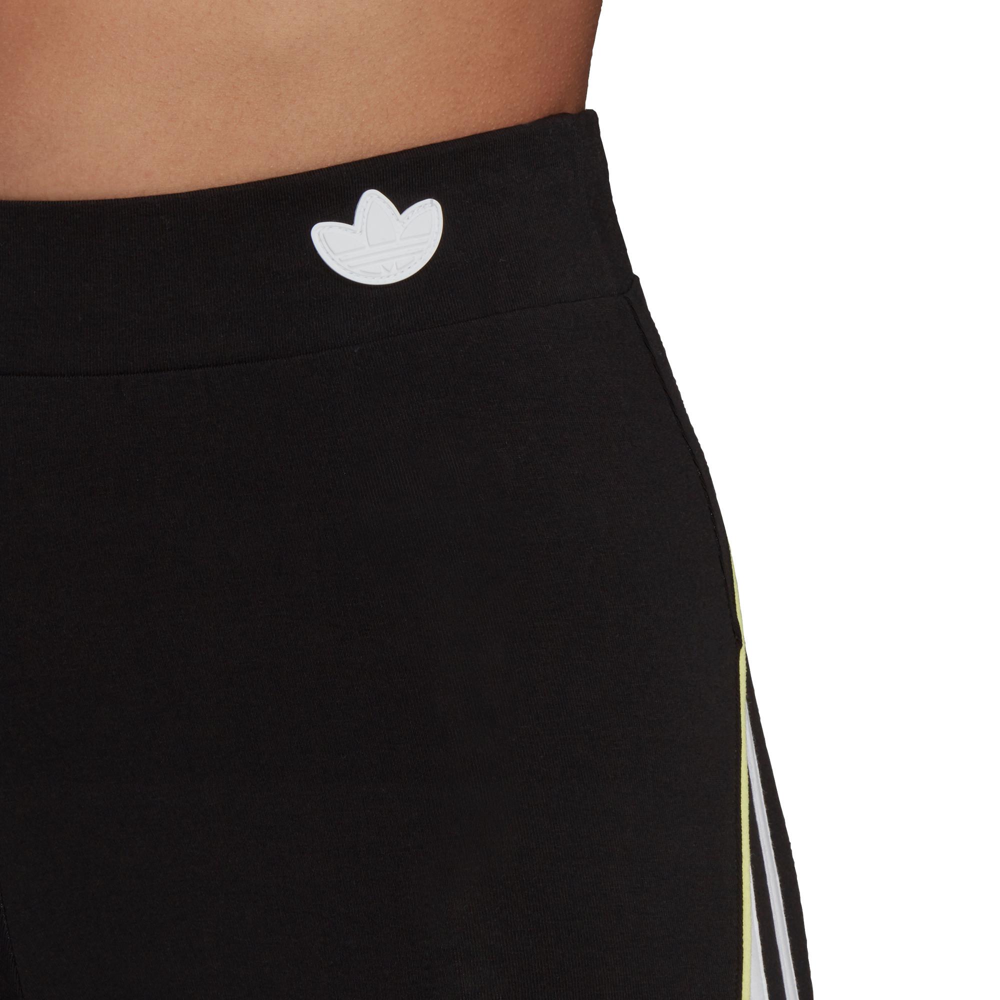 Shorts a vita alta con bordino corto, Nero, large image number 4