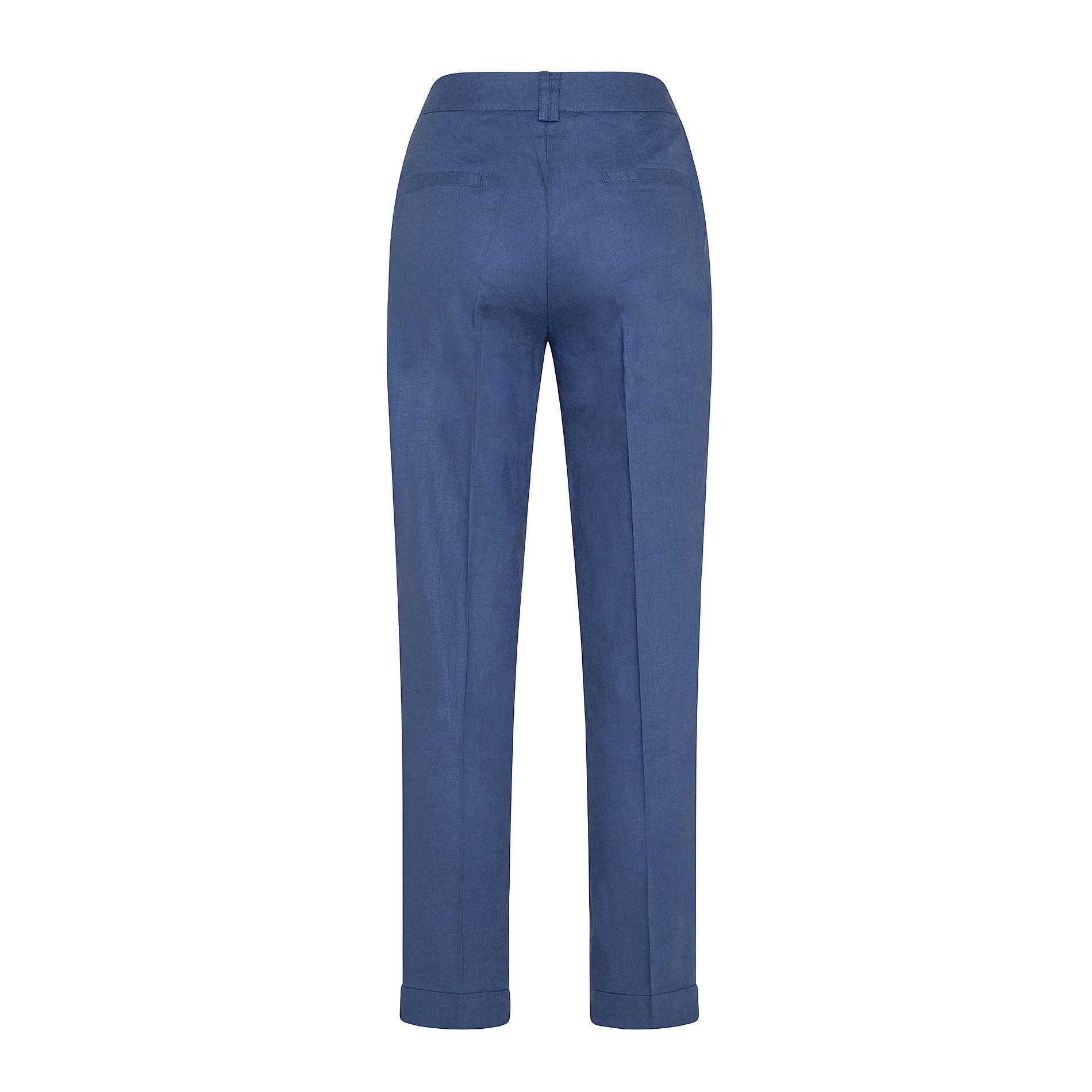 Pantalone classico in misto lino Koan, Blu scuro, large image number 1
