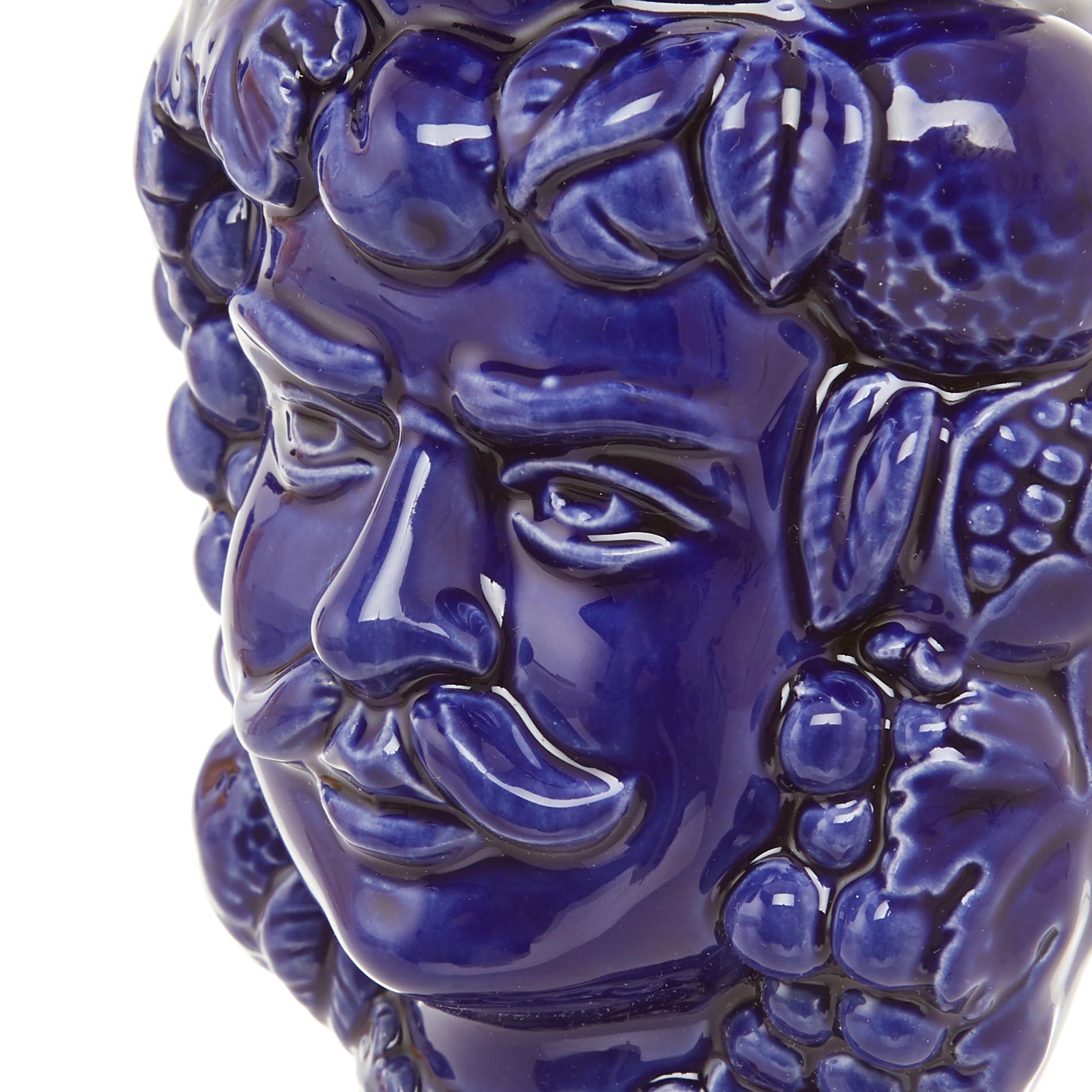 Testa di moro by Ceramiche Siciliane Ruggeri, Blu, large image number 3