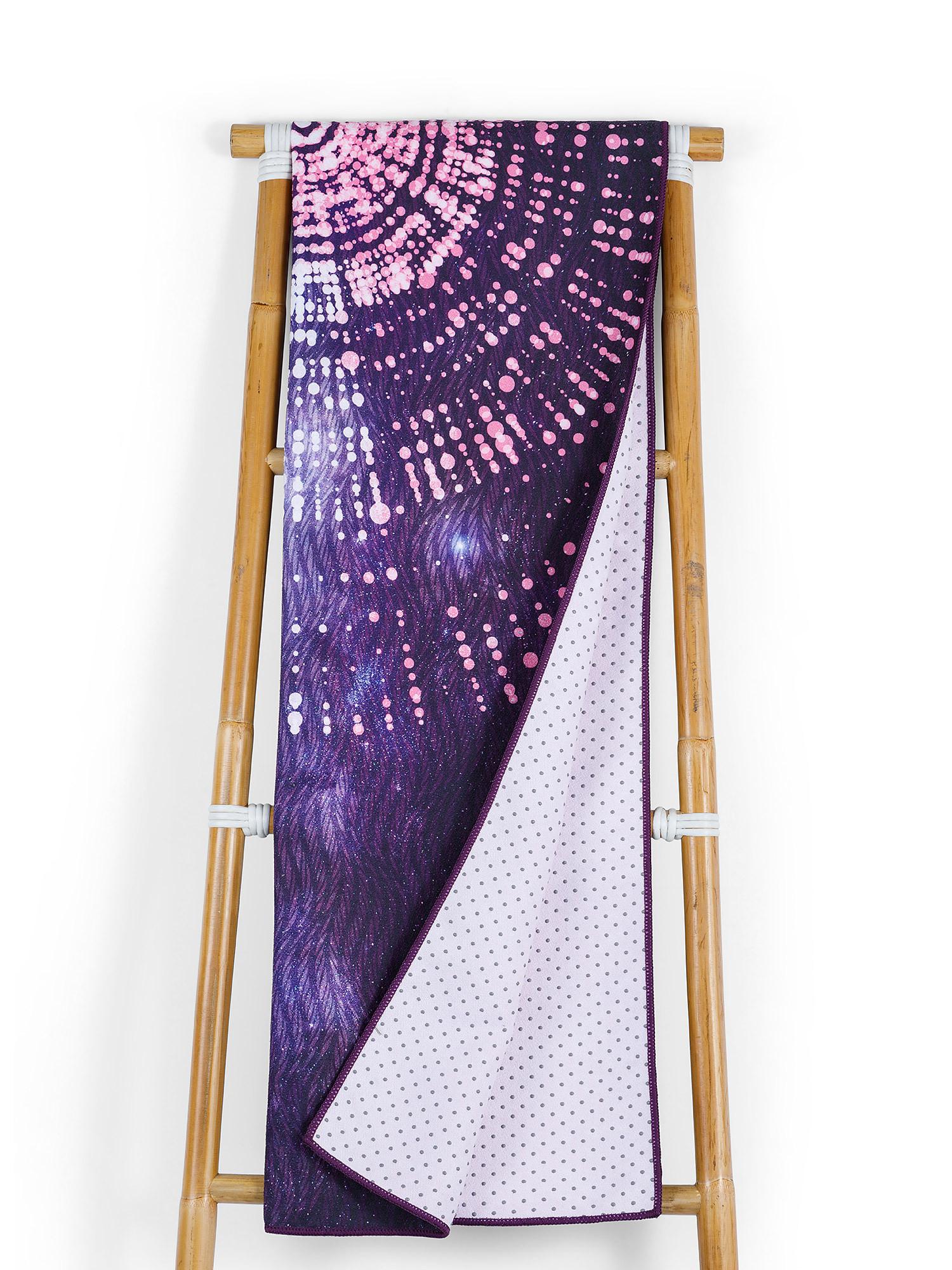 Telo yoga in microfibra stampa universo, Multicolor, large image number 0