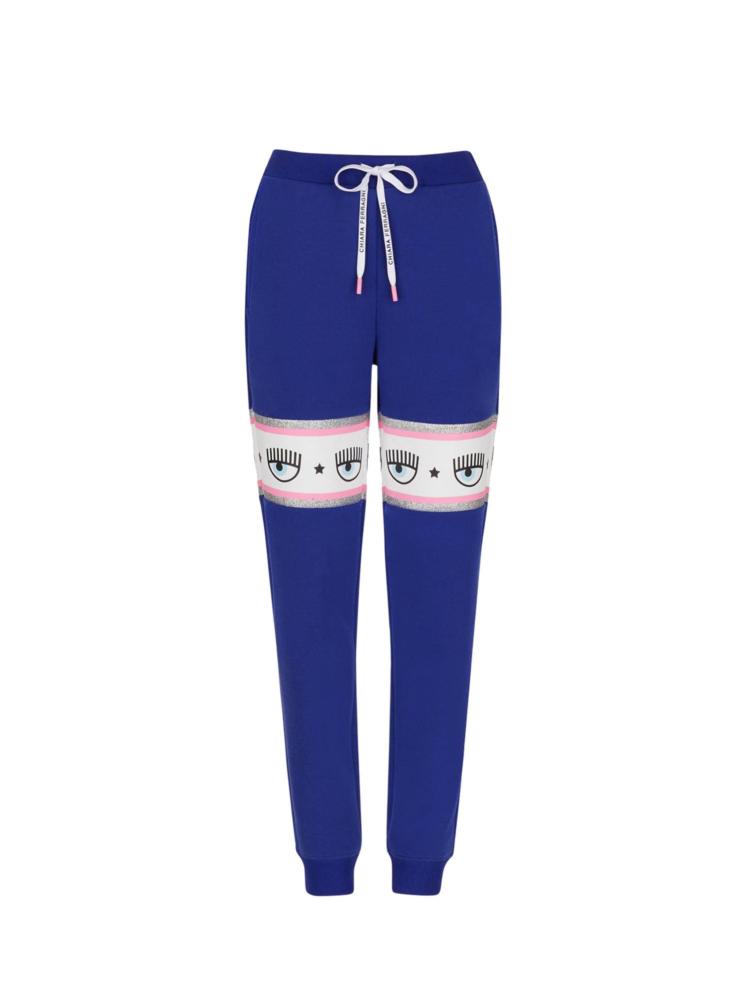 Pantalone tuta Logomania, Blu, large image number 0