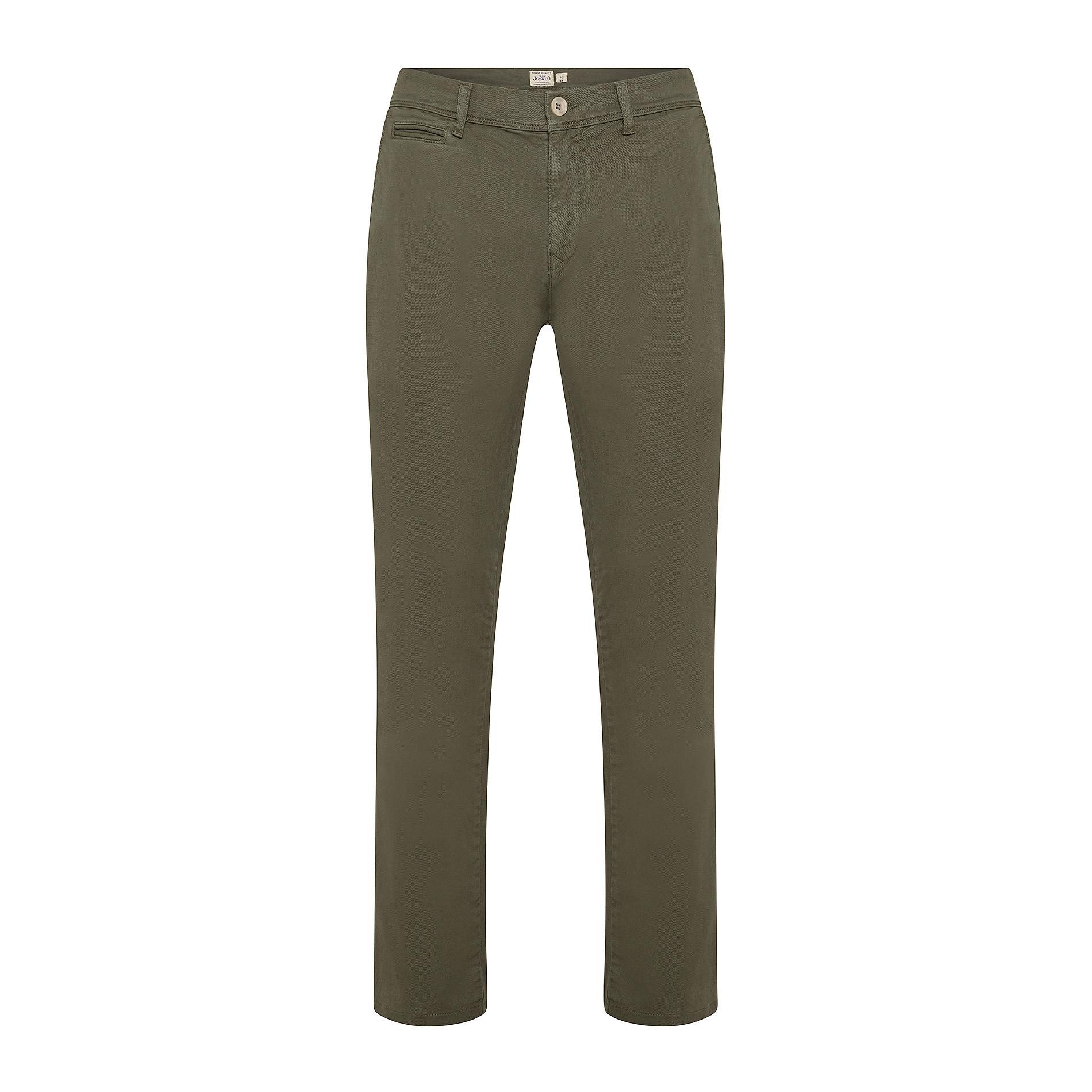 Pantalone chino gabardina stretch JCT, Verde scuro, large image number 0