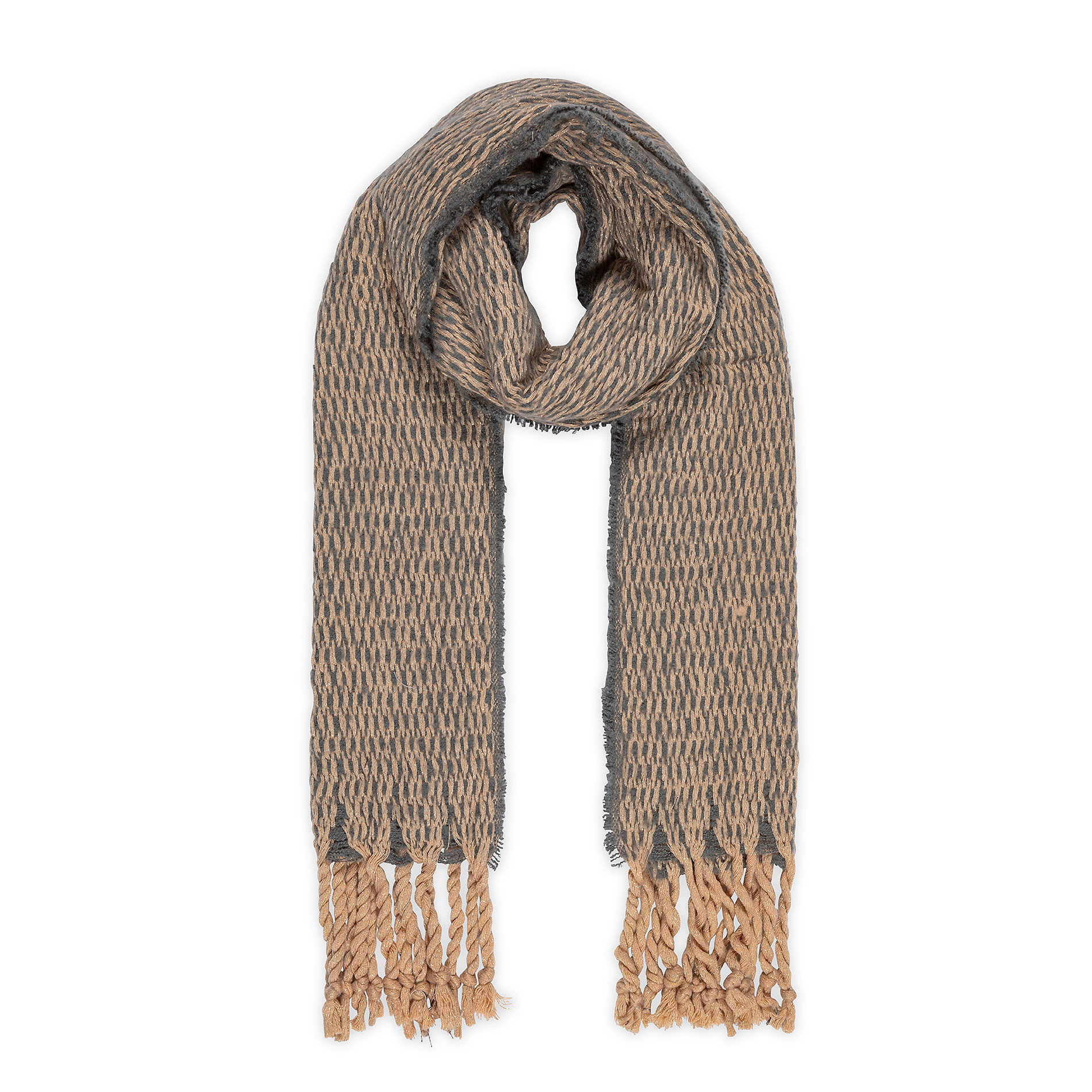 Sciarpa tessuto a maglia Koan, Grigio, large image number 0