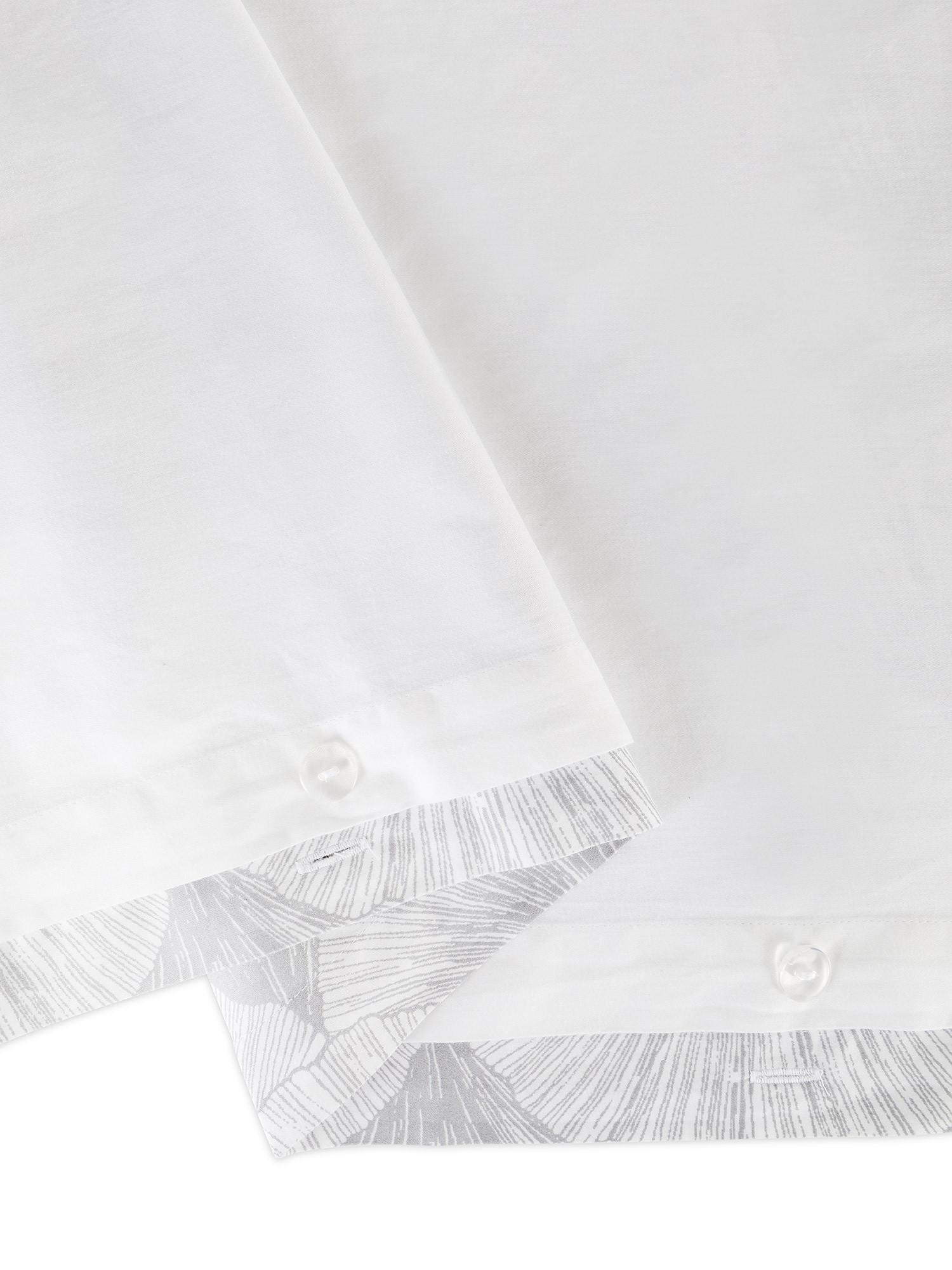 Copripiumino raso di cotone fantasia Ginkgo, Bianco, large image number 2