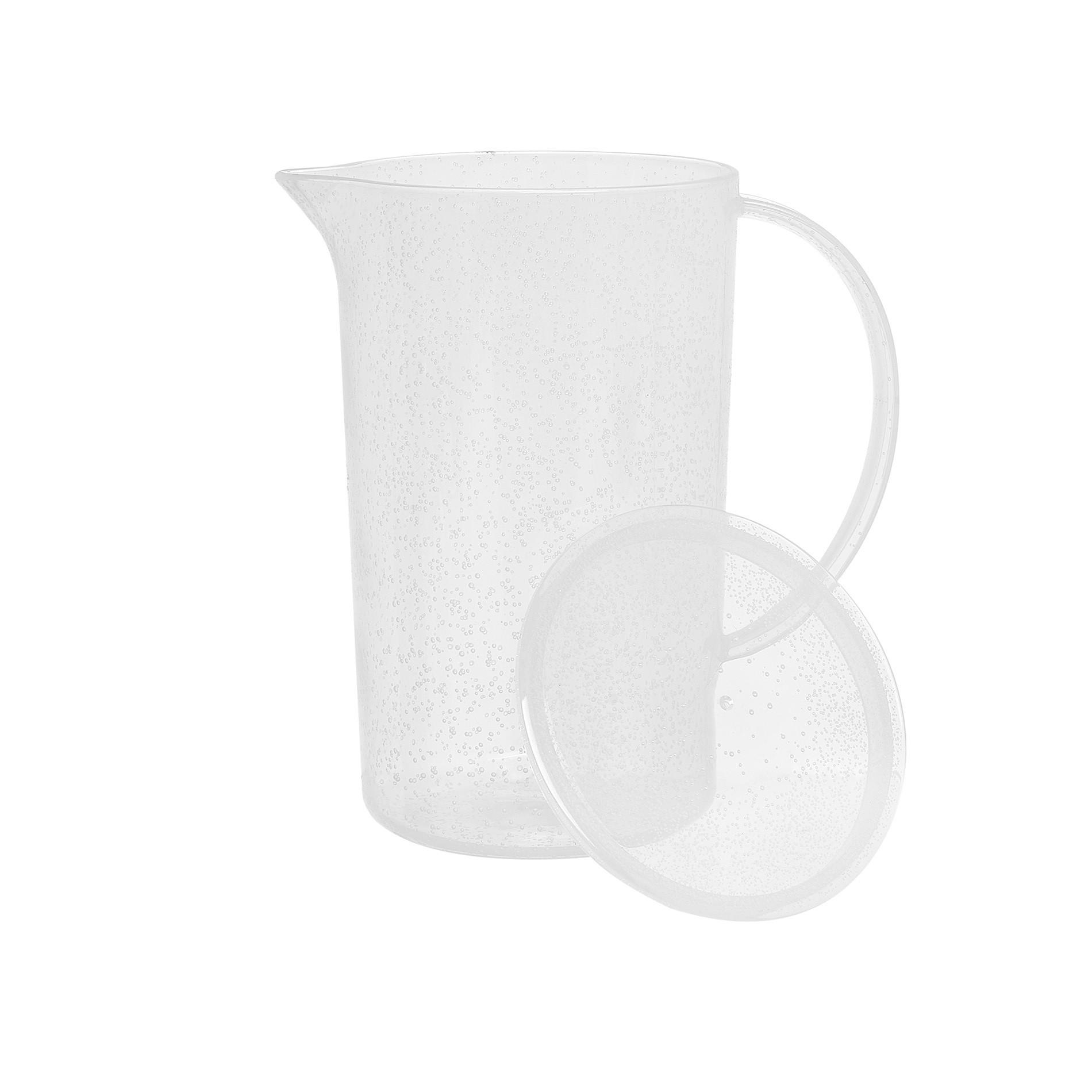 Caraffa plastica bolle, Bianco, large image number 1