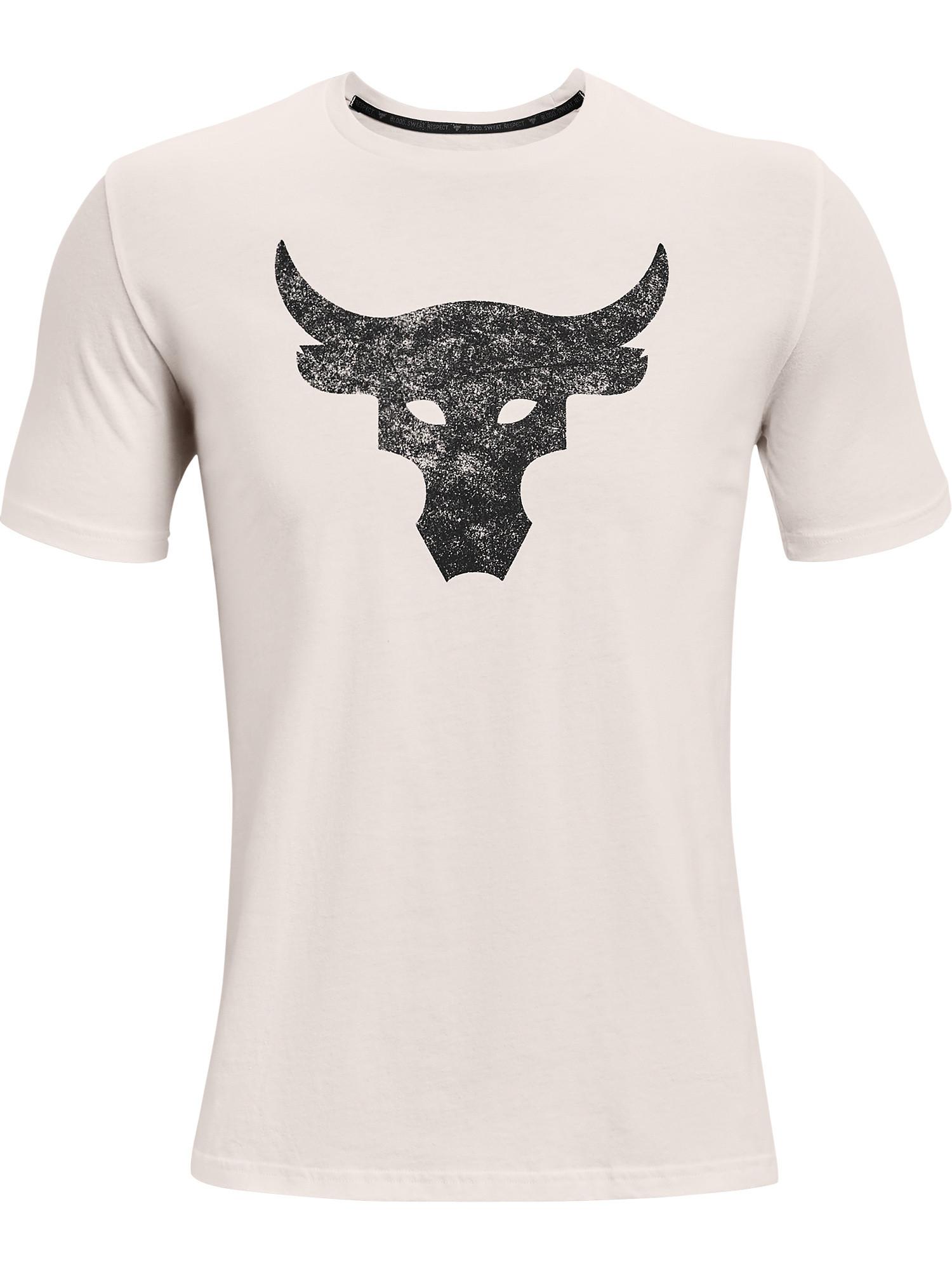 Maglia a manica corta Project Rock Brahma Bull da uomo, Bianco, large image number 0