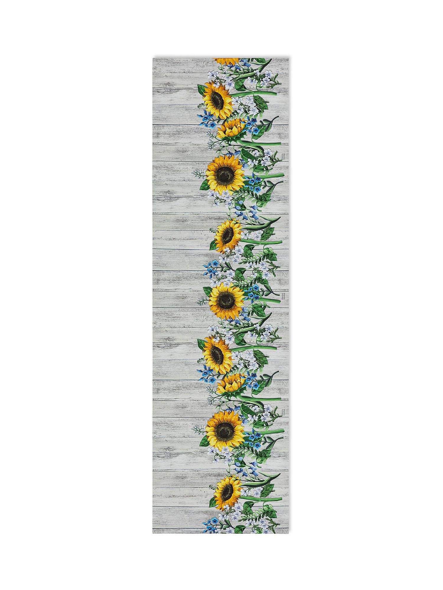 Tappeto da cucina PVC stampa girasoli, Giallo, large image number 0