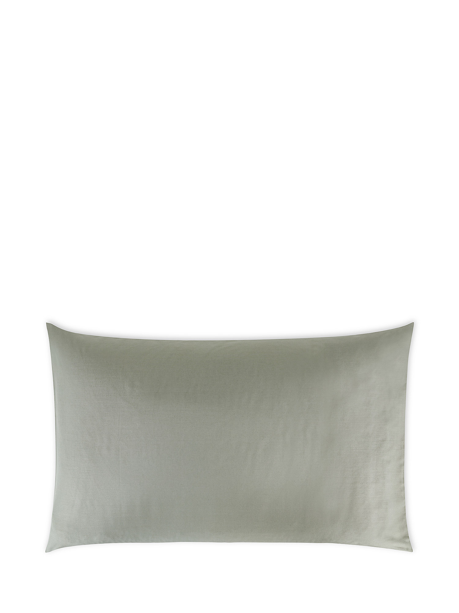 Federa puro cotone tinta unita, Verde salvia, large image number 0