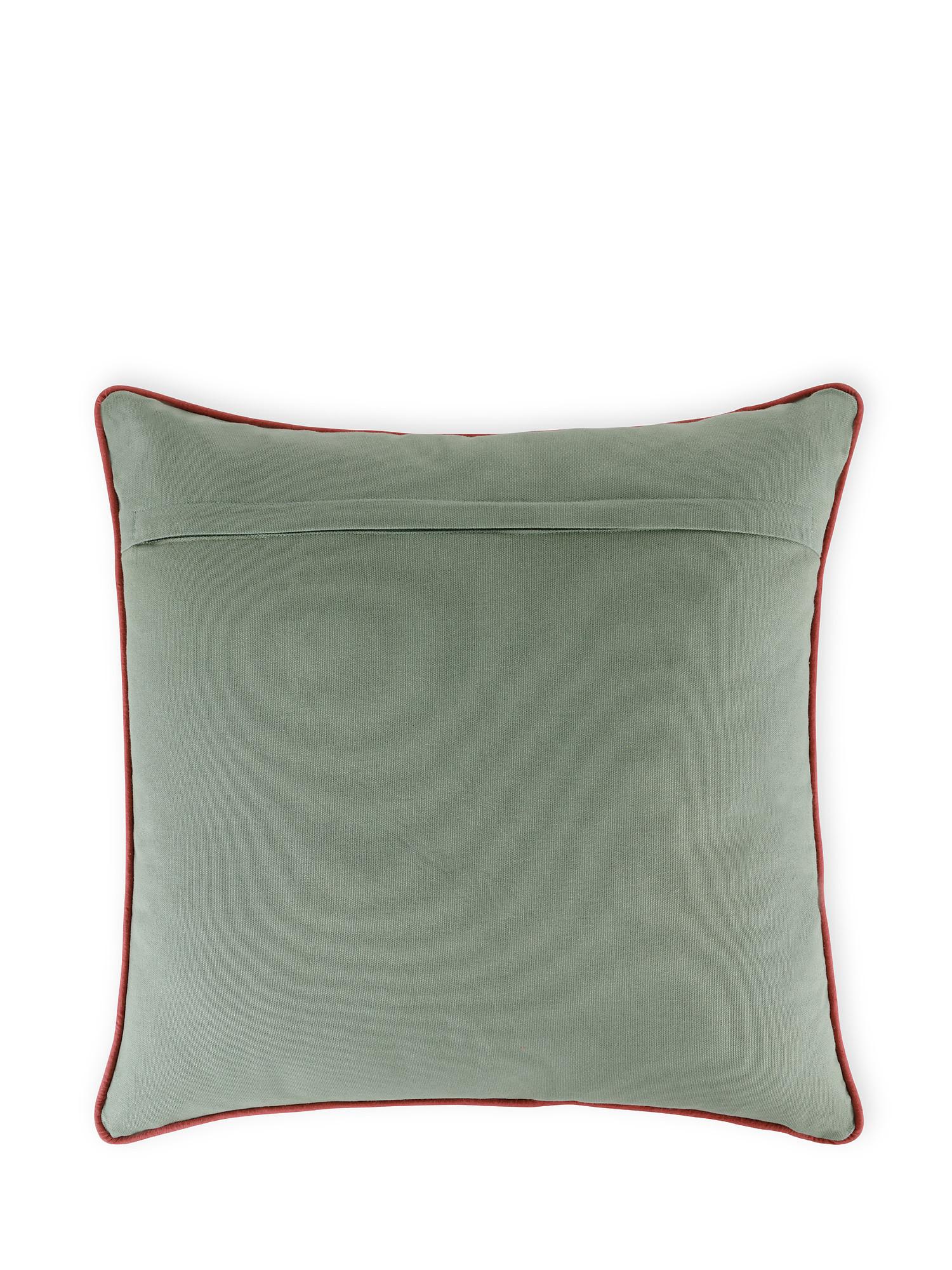 Cuscino cotone ricamo floreale 45x45cm, Multicolor, large image number 1