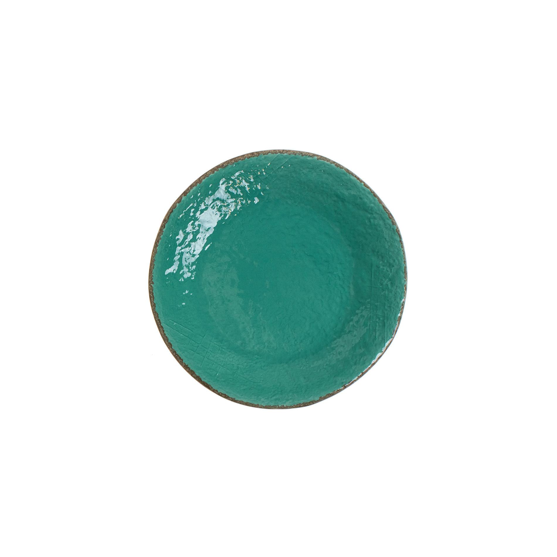 Piatto frutta ceramica artigianale Preta, Verde acqua, large image number 0